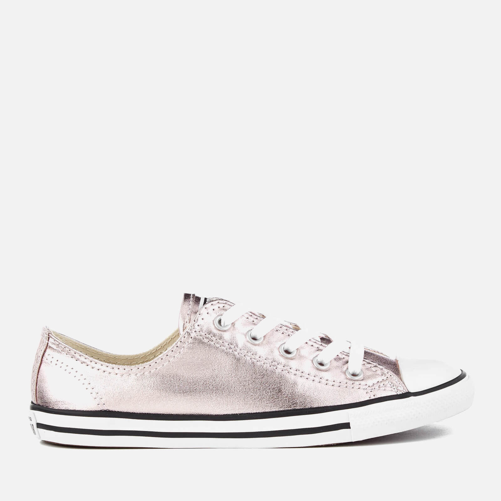 6940112bfef7cf ... Converse Women s Chuck Taylor All Star Dainty Ox Trainers - Rose  Quartz Black White