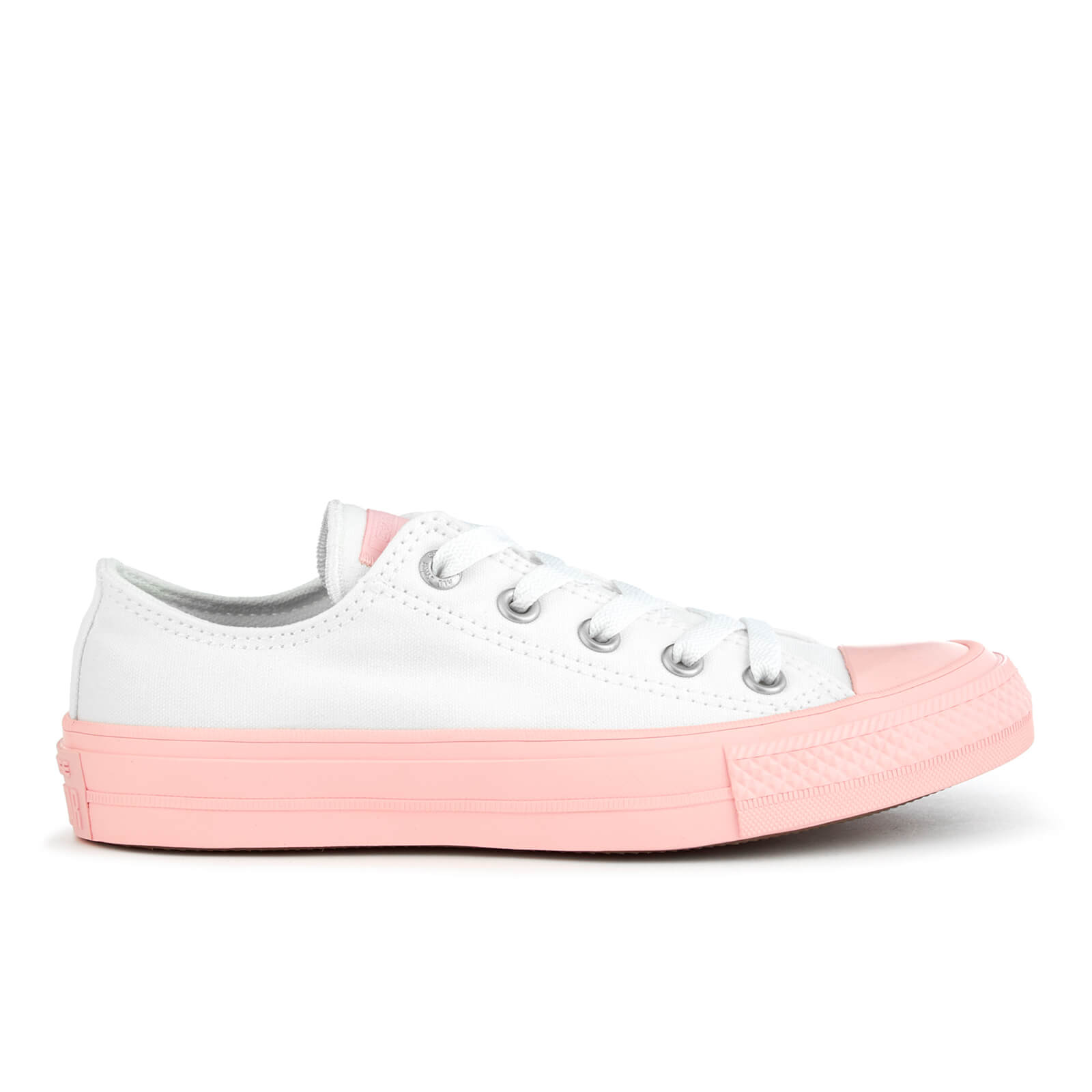 7908e900e614 ... Converse Women s Chuck Taylor All Star II Ox Trainers - White Vapor Pink