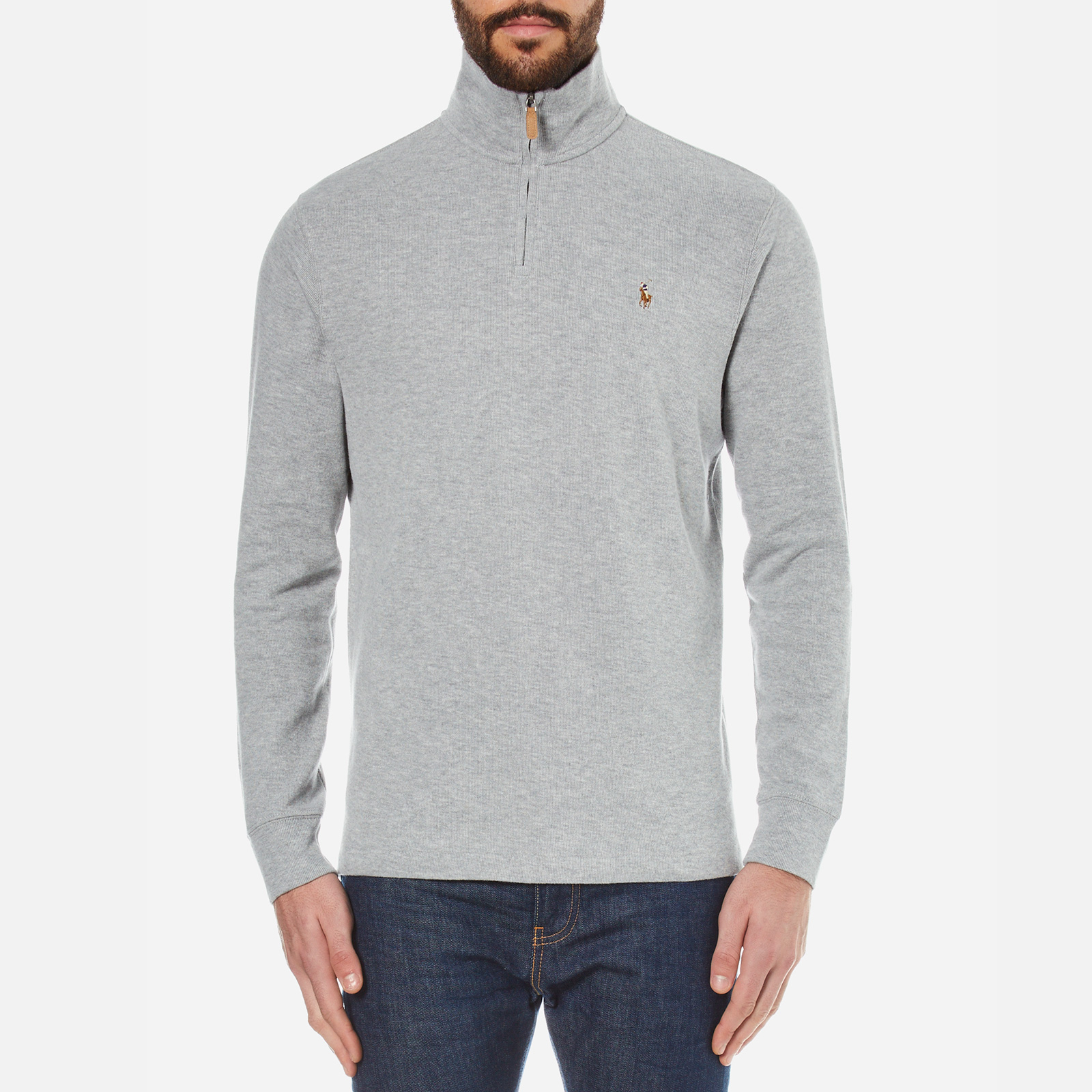 175ed79b Polo Ralph Lauren Men's Quarter Zip Sweatshirt - Andover Heather Grey -  Free UK Delivery over £50