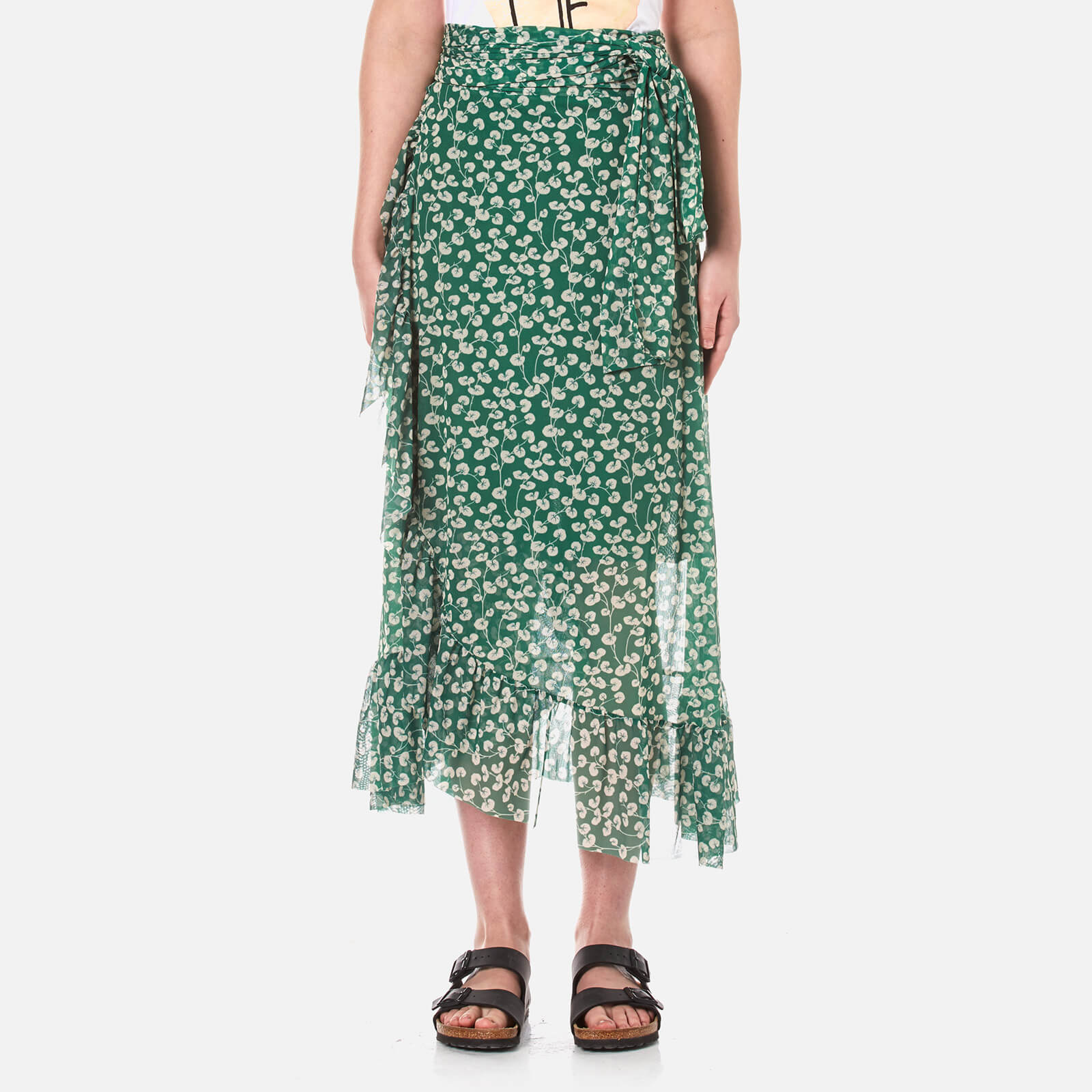03d60bf7f2b Ganni Women's Capilla Mesh Maxi Skirt - Green - Free UK Delivery over £50