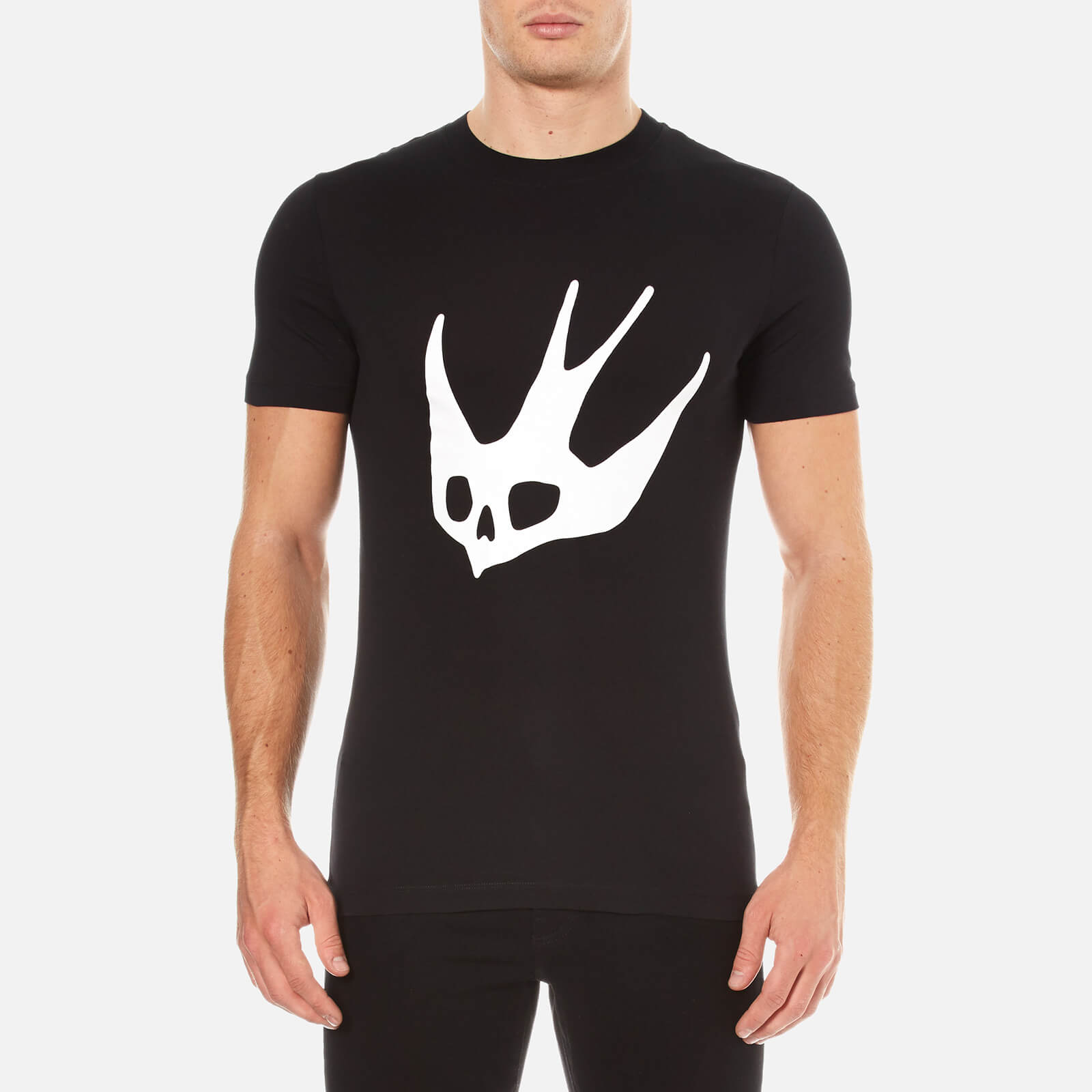 3071df5d McQ Alexander McQueen Men's Large Swallow Crew Neck T-Shirt - Black - Free  UK Delivery over £50