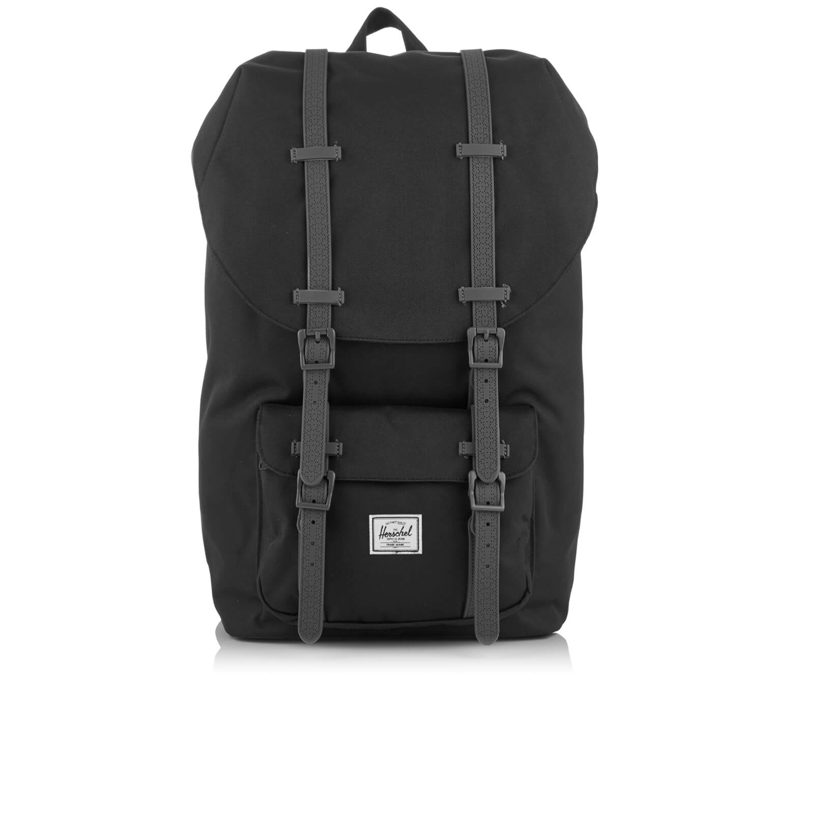 74a5691cde Herschel Supply Co. Little America Backpack - Black Charcoal Debossed  Rubber - Free UK Delivery over £50