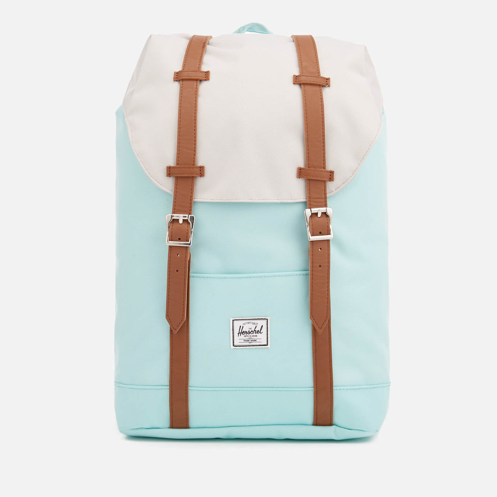 cf74979e27b Herschel Supply Co. Retreat Mid-Volume Backpack - Blue Tint/Glacier Grey/Tan  Synthetic Leather - Free UK Delivery over £50
