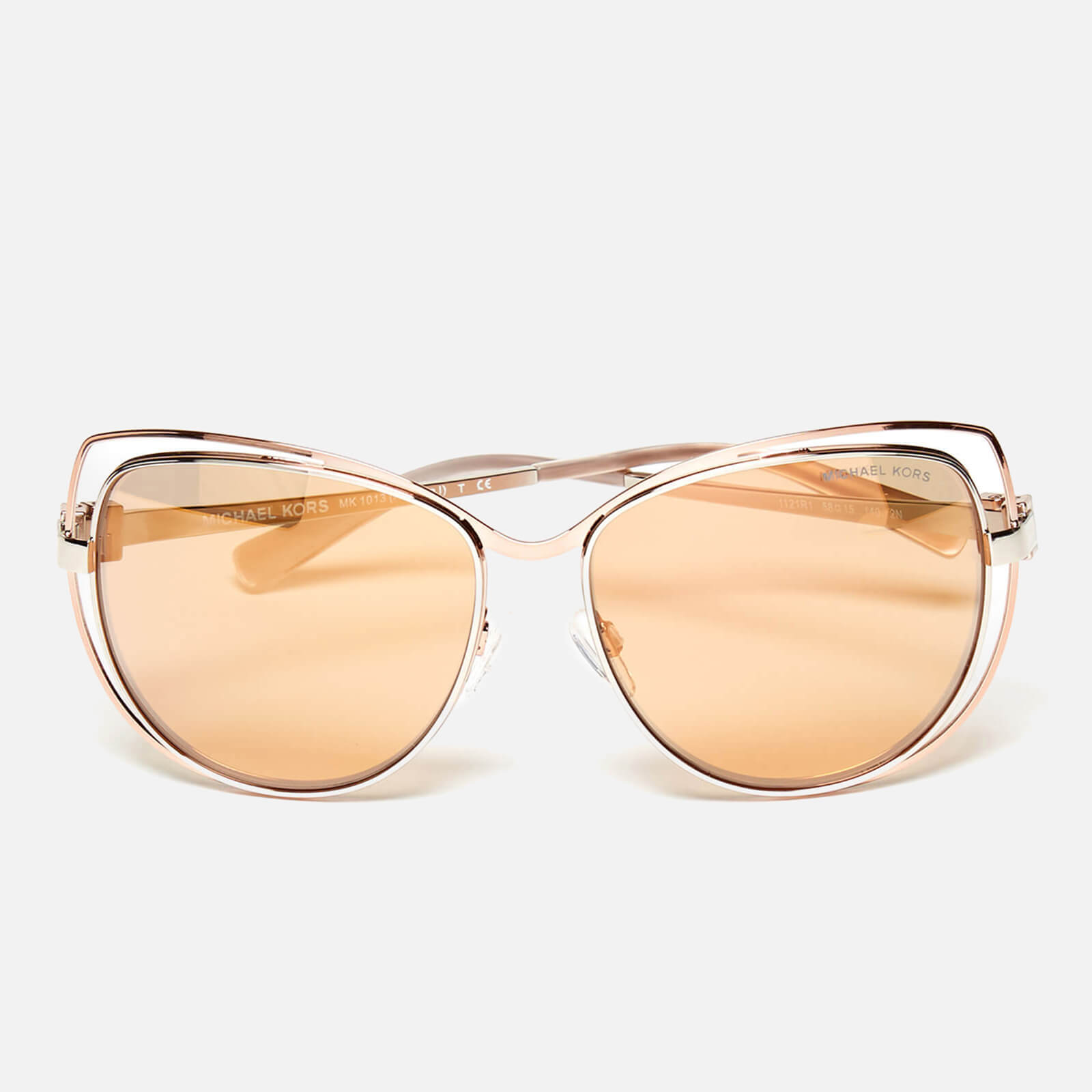 7252adc78f09a MICHAEL MICHAEL KORS Women s Audrina I Sunglasses - Silver Rose Gold - Free  UK Delivery over £50