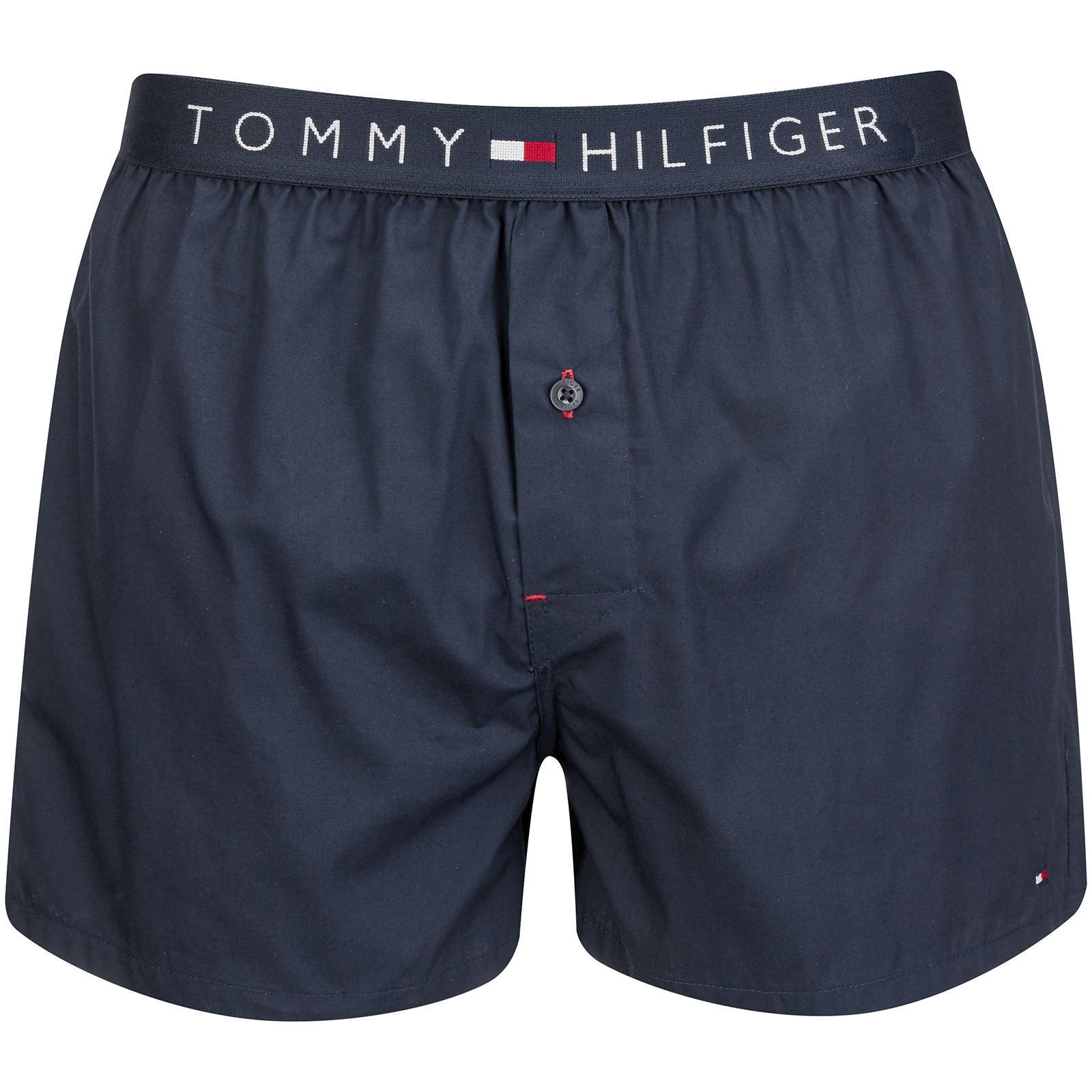 47694ff95f5e Tommy Hilfiger Men's Icon Cotton Woven Boxer Shorts - Navy Blazer Mens  Underwear | TheHut.com