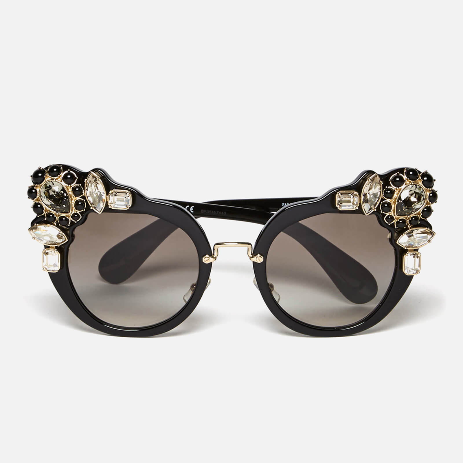 9f8e07017fc Miu Miu Women s Couture Cat Eye Sunglasses - Black - Free UK Delivery over  £50