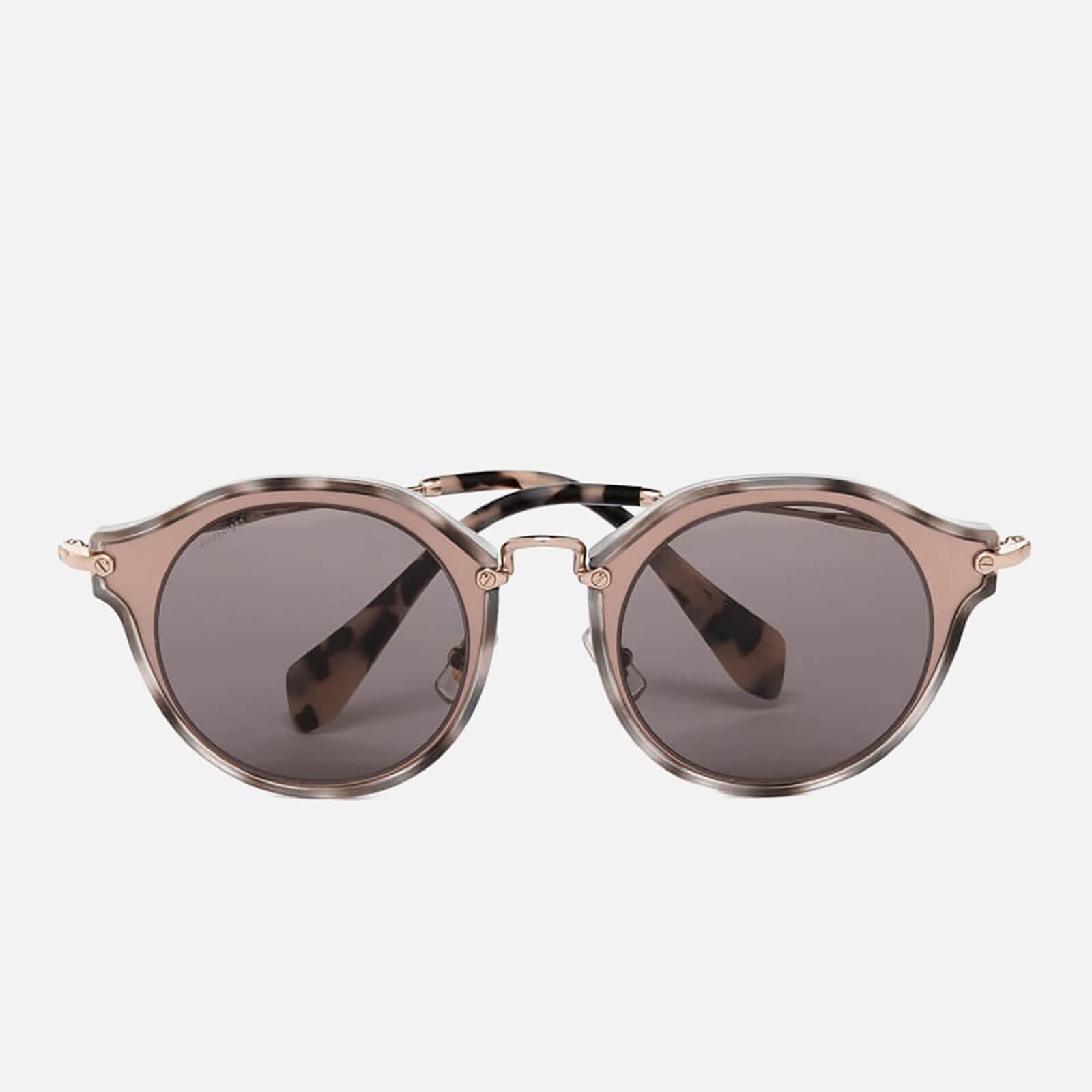 bde5b57510f0 Miu Miu Women's Noir Metal Rim Frame Sunglasses - Matte Pink - Free UK  Delivery over £50