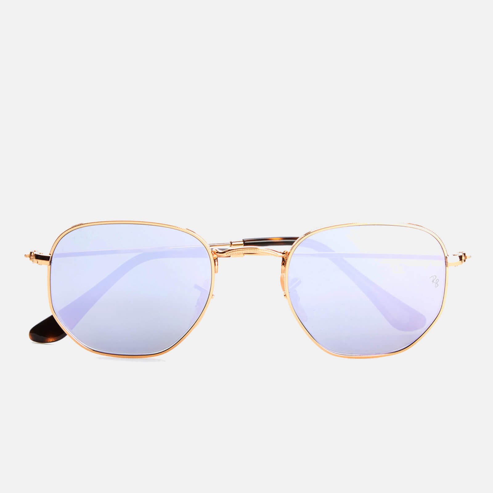 31f0c6ac5e6 Ray-Ban Hexagonal Metal Frame Sunglasses - Gold Wisteria Flash - Free UK  Delivery over £50