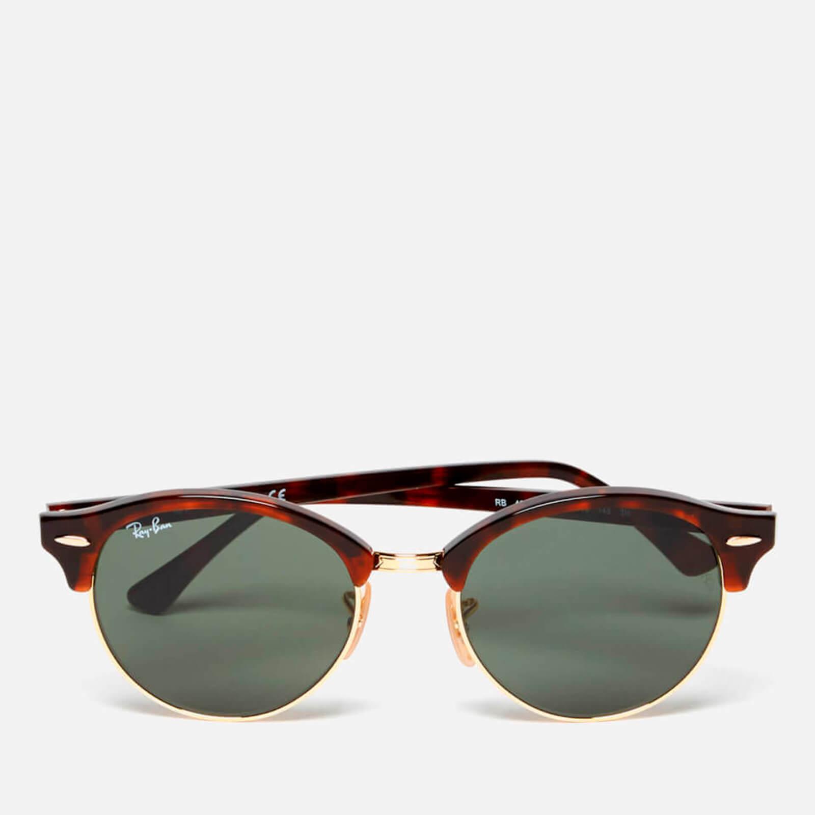 4b134d9d352d38 Ray-Ban Clubround Flat Lenses Half Metal Frame Sunglasses - Red Havana  Womens Accessories   TheHut.com