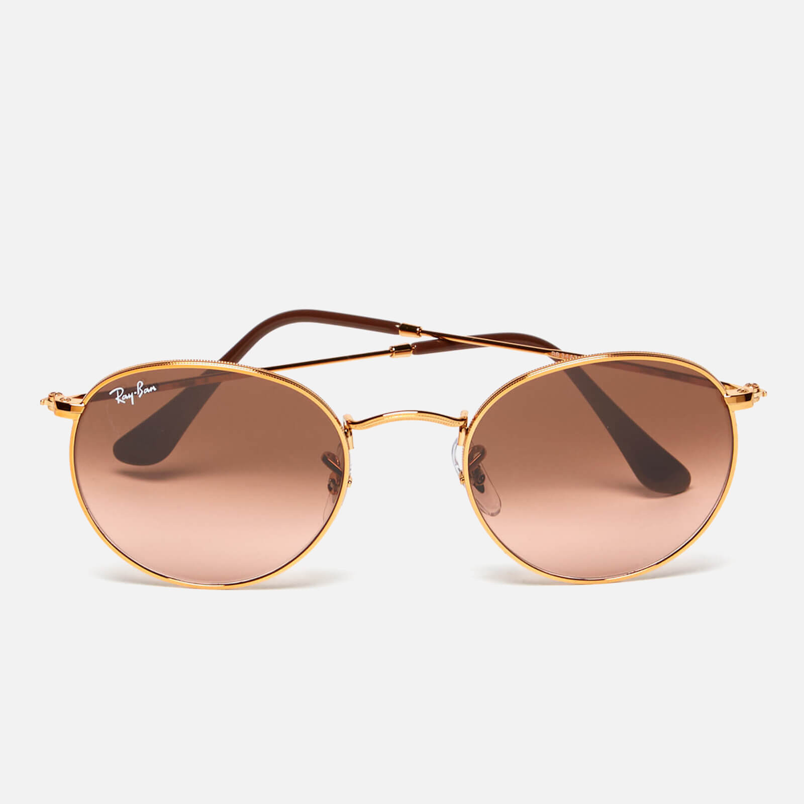 38e35c90b31fd Ray-Ban Round Flat Lenses Bronze Copper Frame Sunglasses - Pink Brown  Gradient - Free UK Delivery over £50