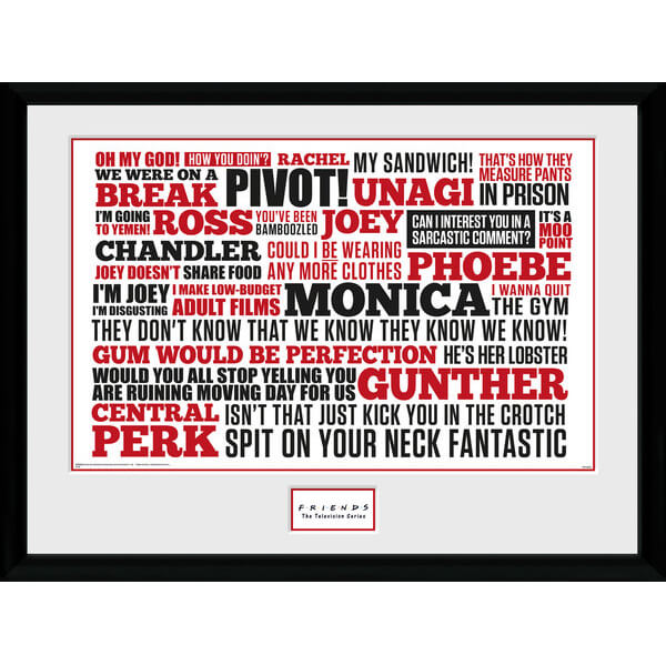 "Friends Quotes Framed Photographic - 16"""" x 12"""