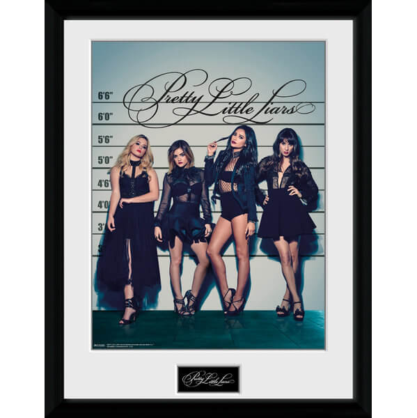 "Pretty Little Liars Line Up Framed Photographic - 16"""" x 12"""