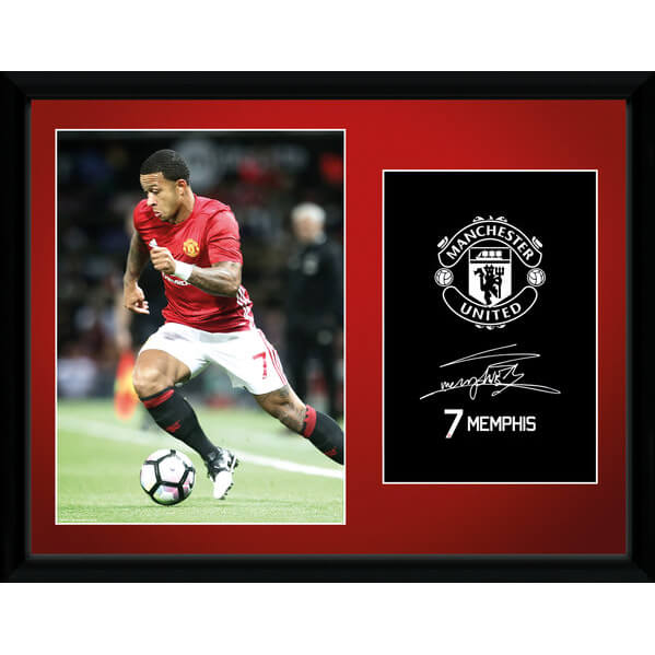 "Manchester United Memphis 16-17 Framed Photographic - 16"""" x 12"""