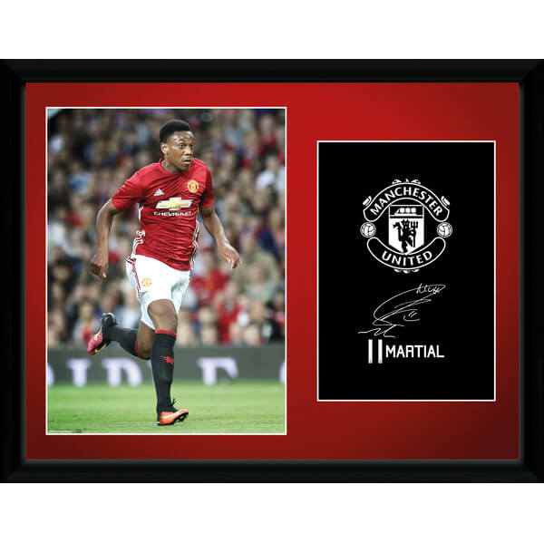 "Manchester United Martial 16-17 Framed Photographic - 16"""" x 12"""