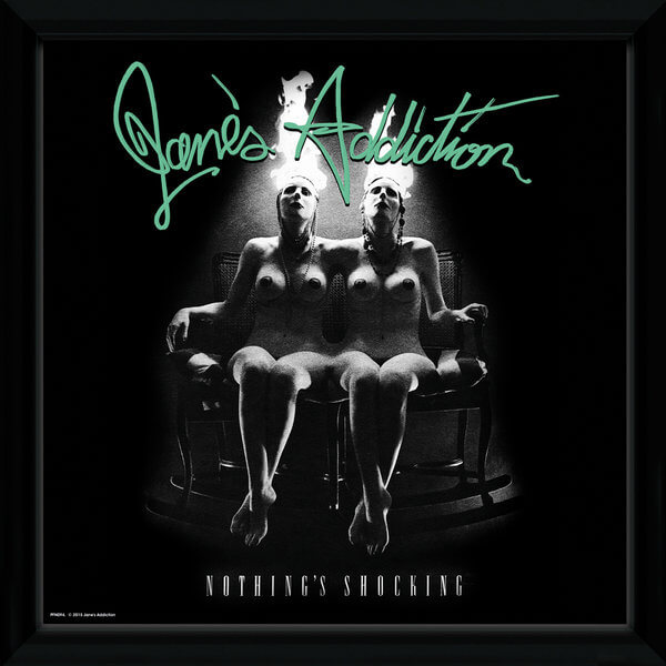 "Janes Addiction Nothings Shocking Framed Album Cover - 12"""" x 12"""