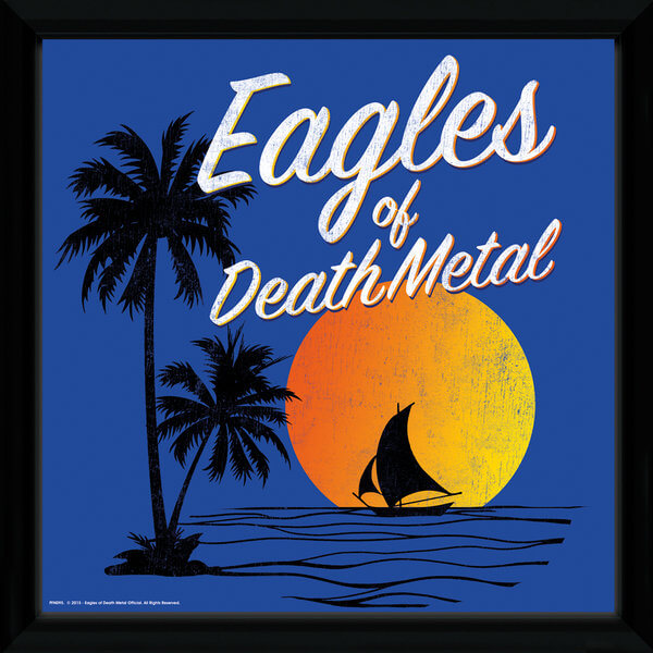 "Eagles Of Death Metal Sunset Framed Album Cover - 12"""" x 12"""
