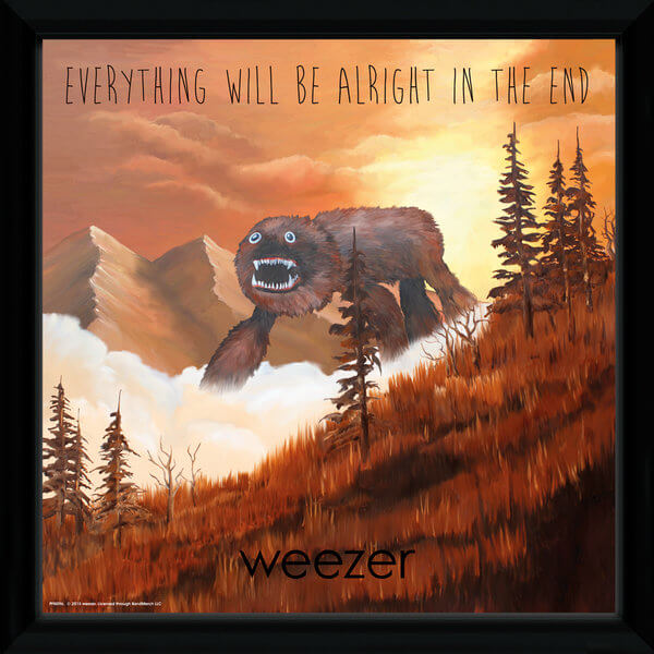 "Weezer Alright Framed Album Cover - 12"""" x 12"""