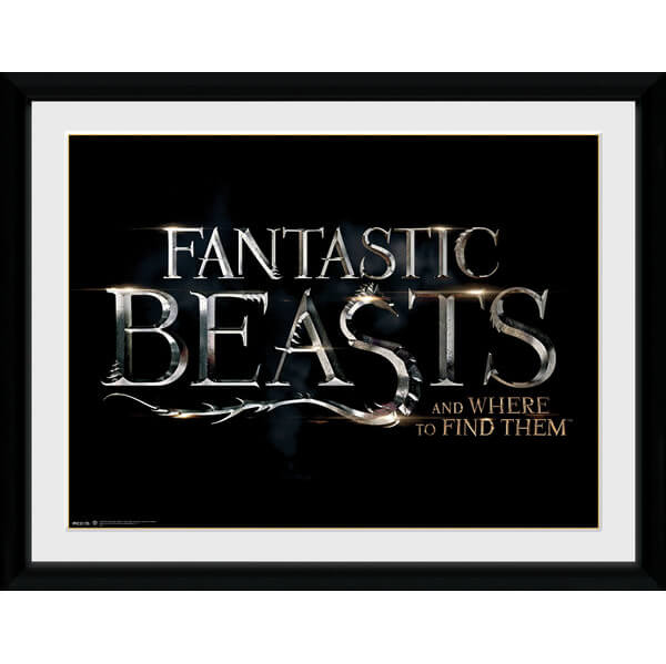 "Fantastic Beasts Logo Framed Album Cover - 12"""" x 12"""