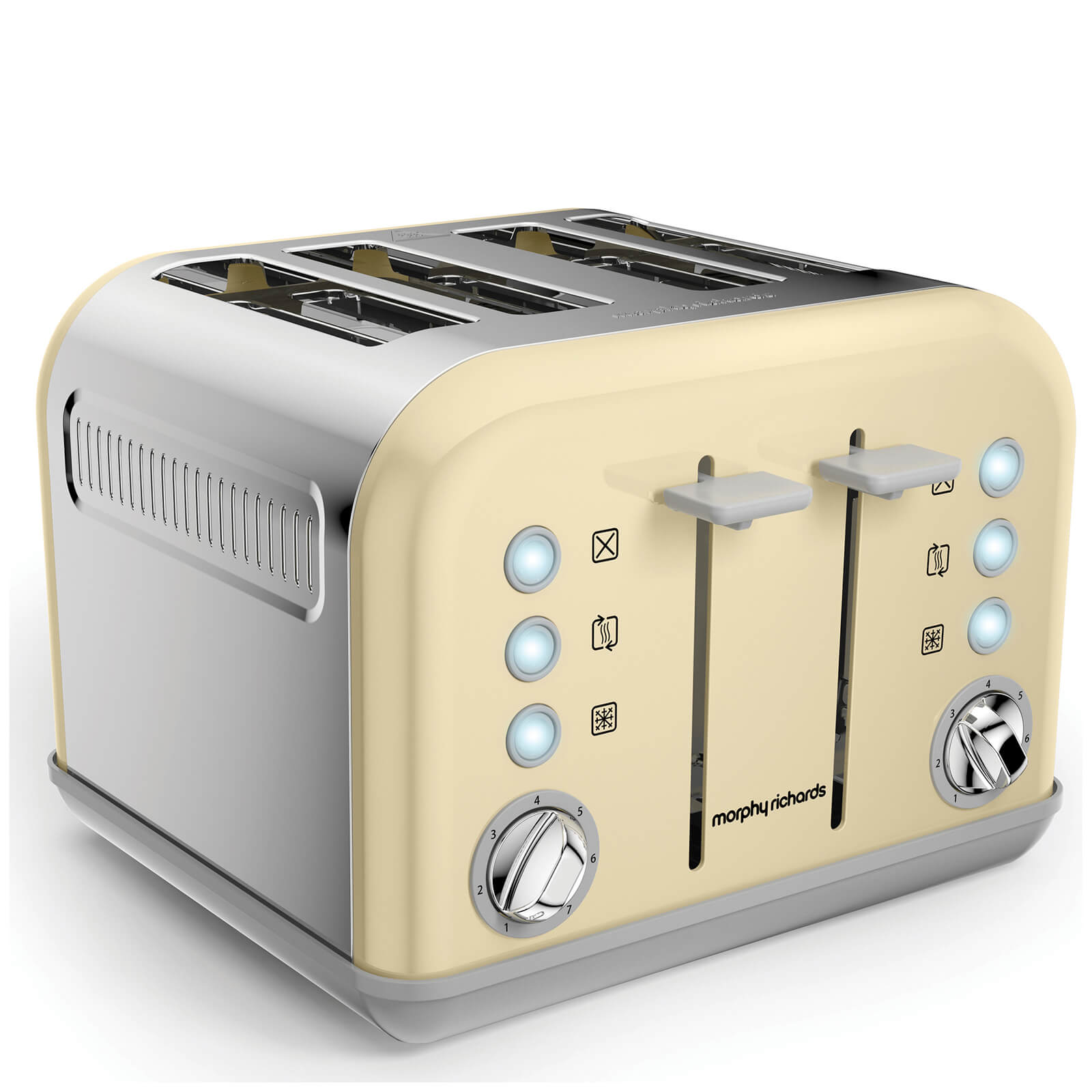 Morphy Richards 242033 Accents 4 Slice EPP Toaster - Cream
