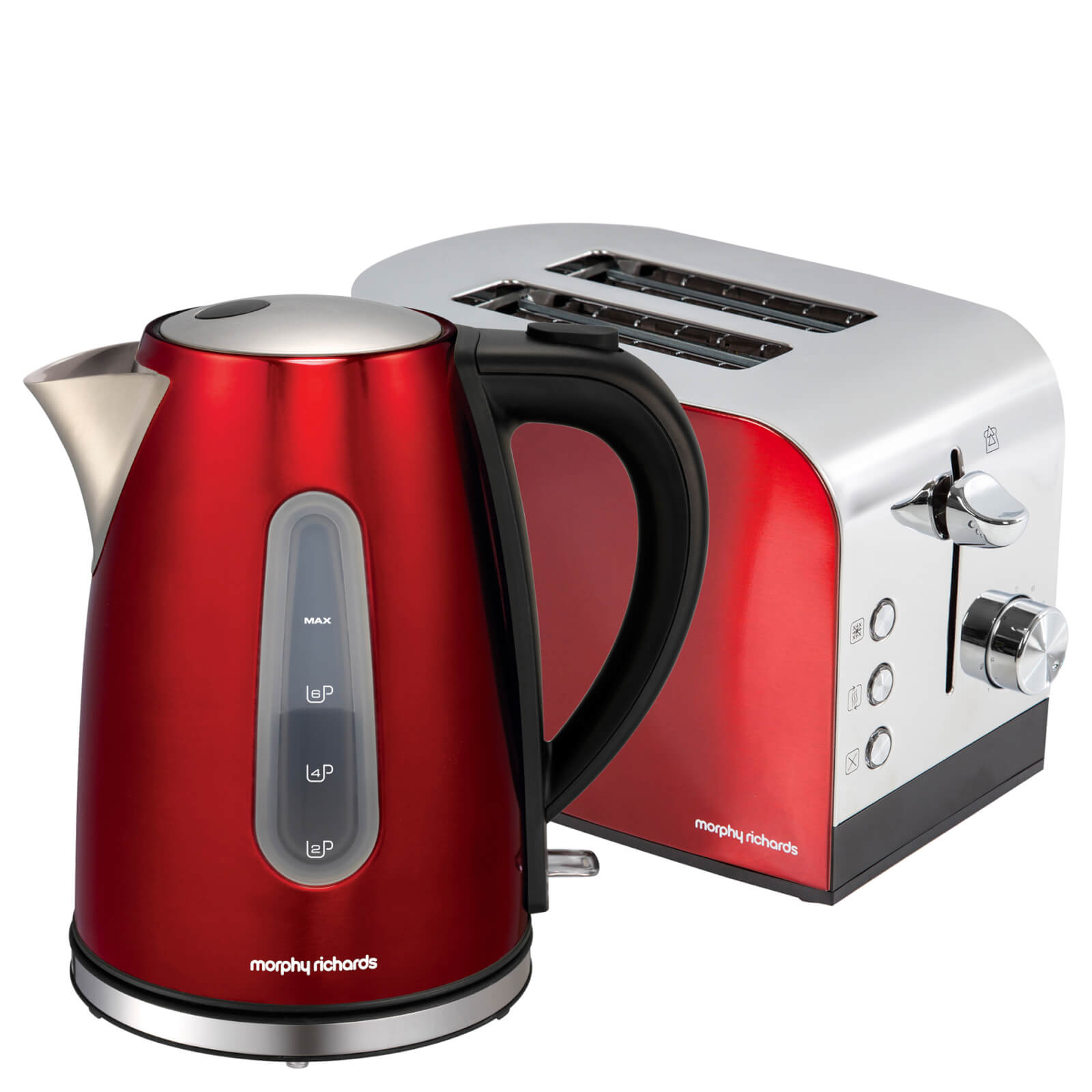 Morphy Richards Toaster: Morphy Richards AMREOLTP Accents Pyramid Kettle And