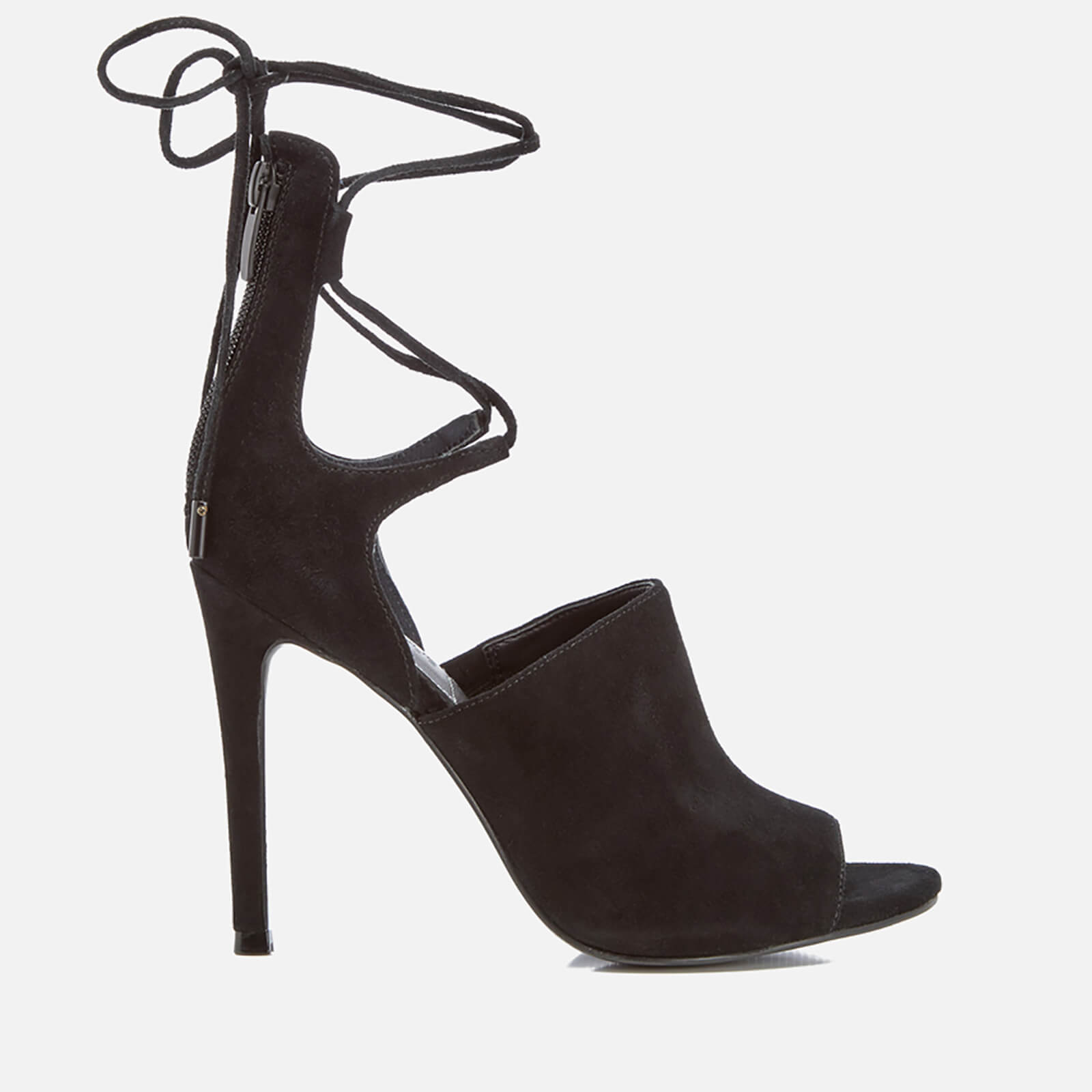 71680833cd5 Kendall + Kylie Women s Estella Suede Strappy Heeled Sandals - Black Womens  Footwear