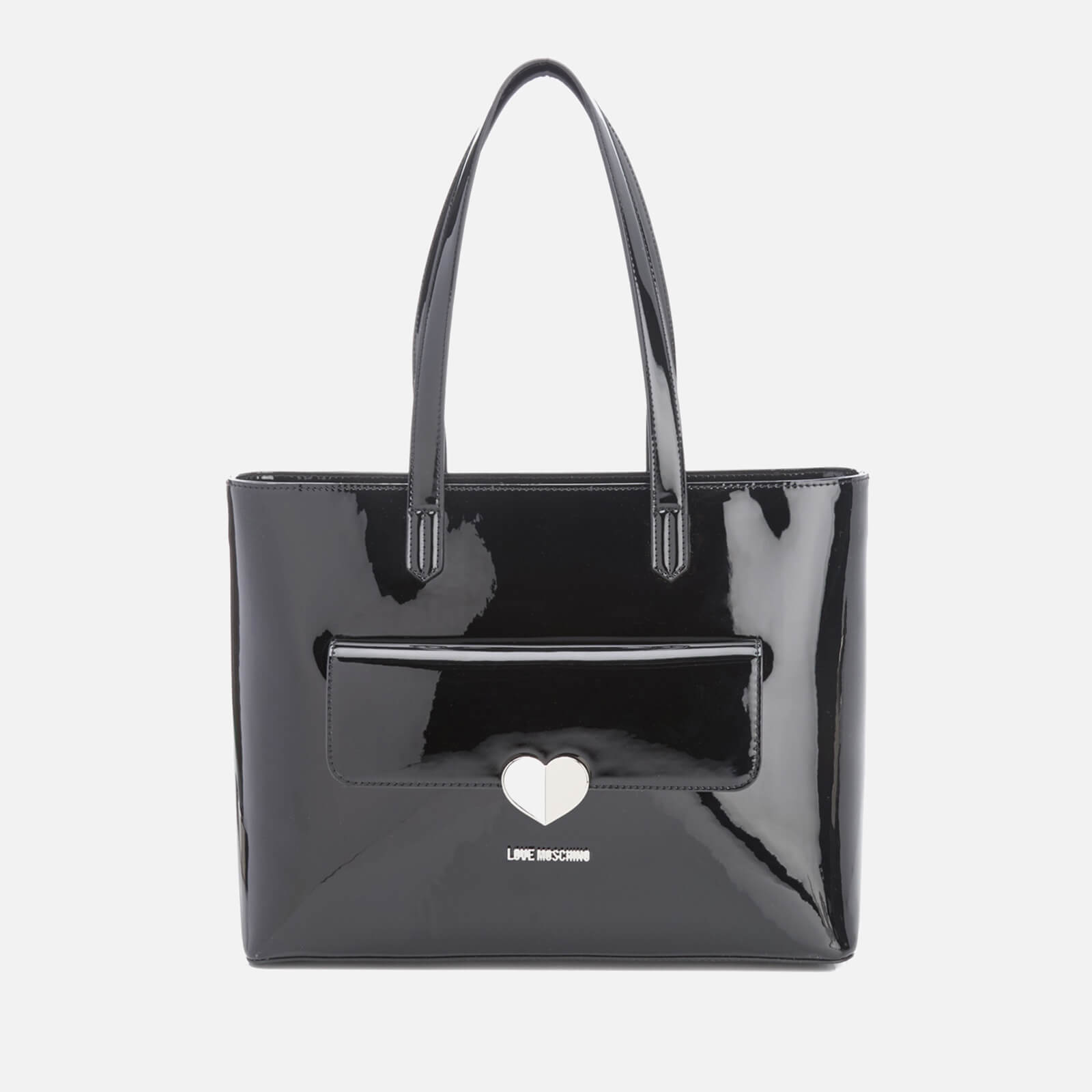 53081342b71 Love Moschino Women's Love Tote Heart Bag - Black - Free UK Delivery over  £50