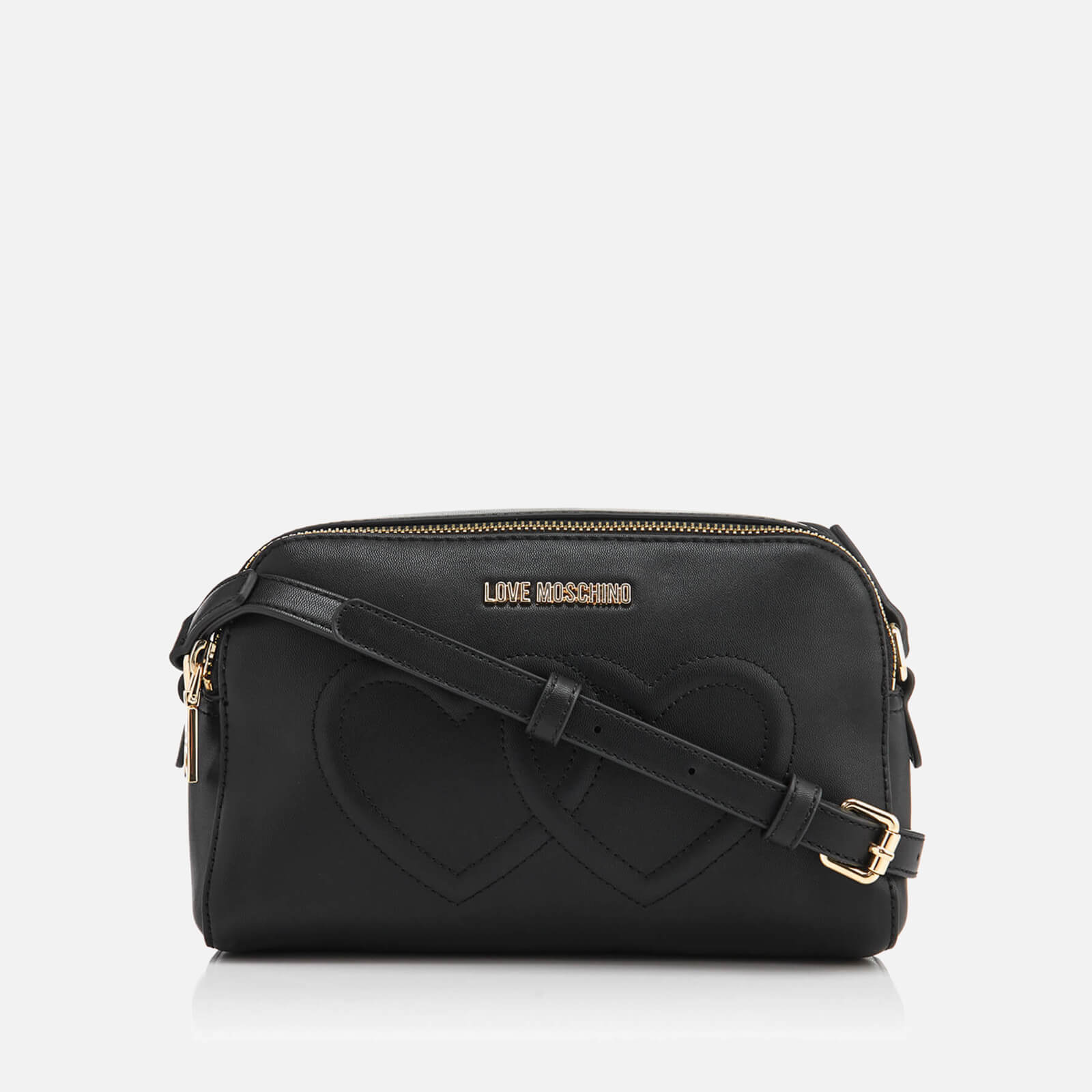 a6aacf88934a Love Moschino Women s Love Heart Embossed Mini Cross Body Bag - Black -  Free UK Delivery over £50