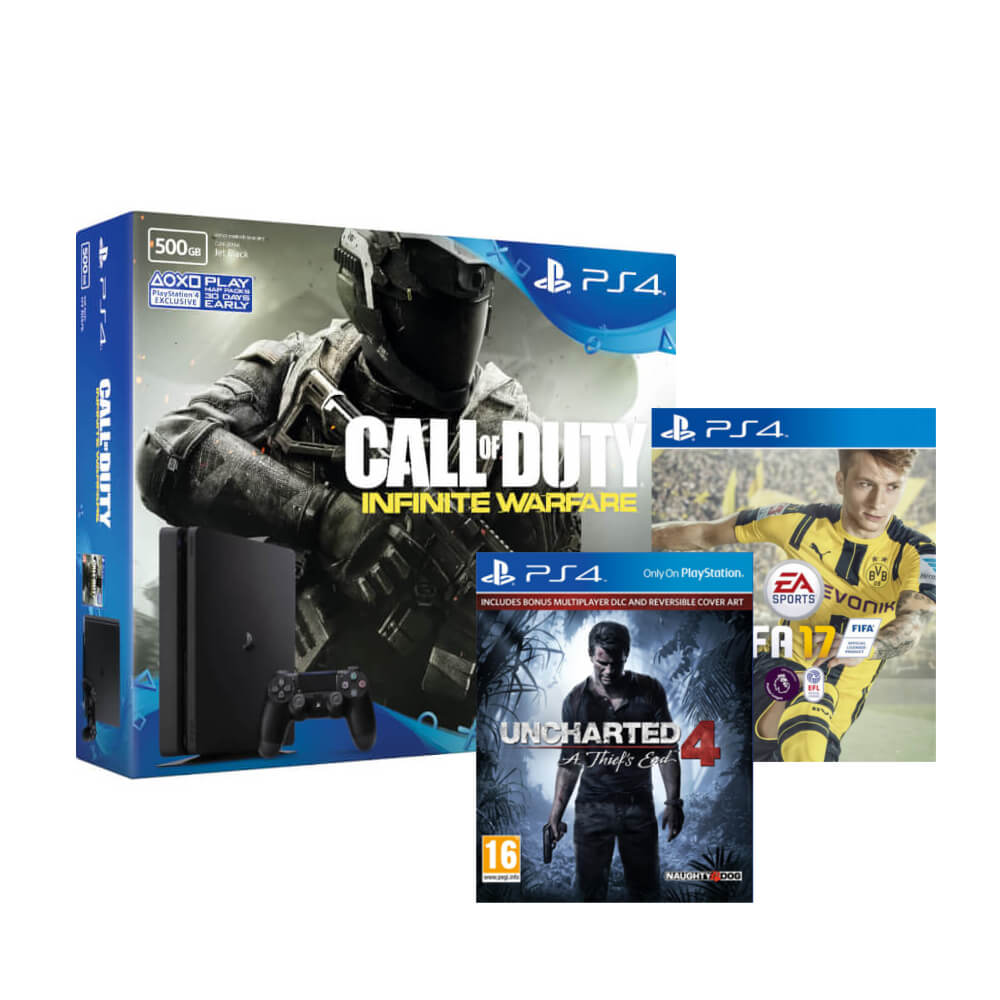 Playstation 4 Slim 500gb With Call Of Duty Infinite Warfare Fifa Sony Ps4 Dvd 2015 Description