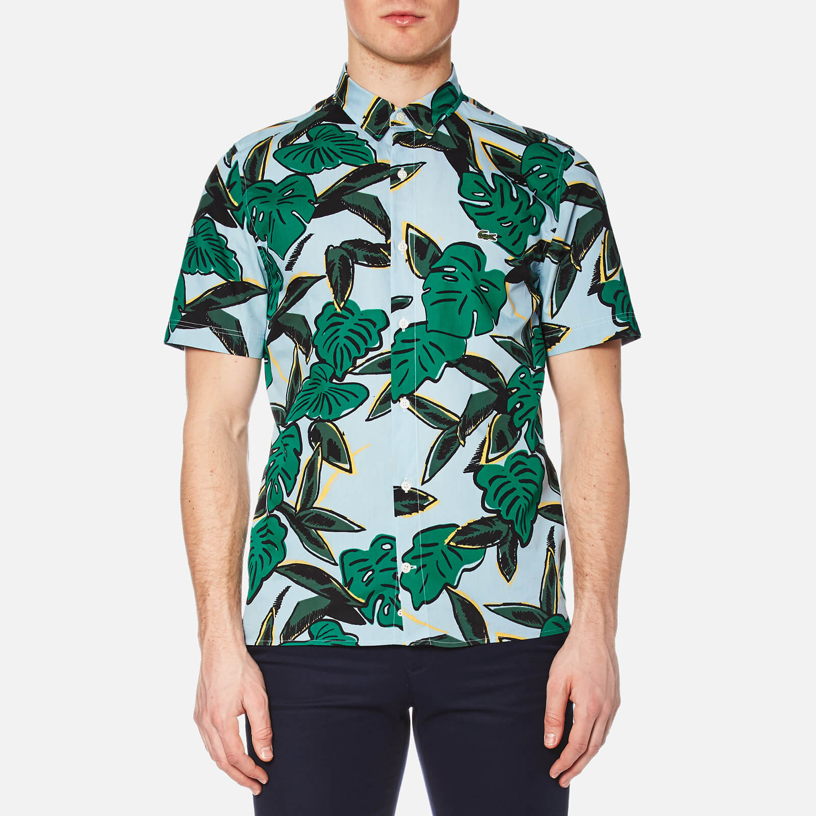 506ec61c Lacoste L!ve Men's Graphic Print Short Sleeve Shirt - Breeze/Multi