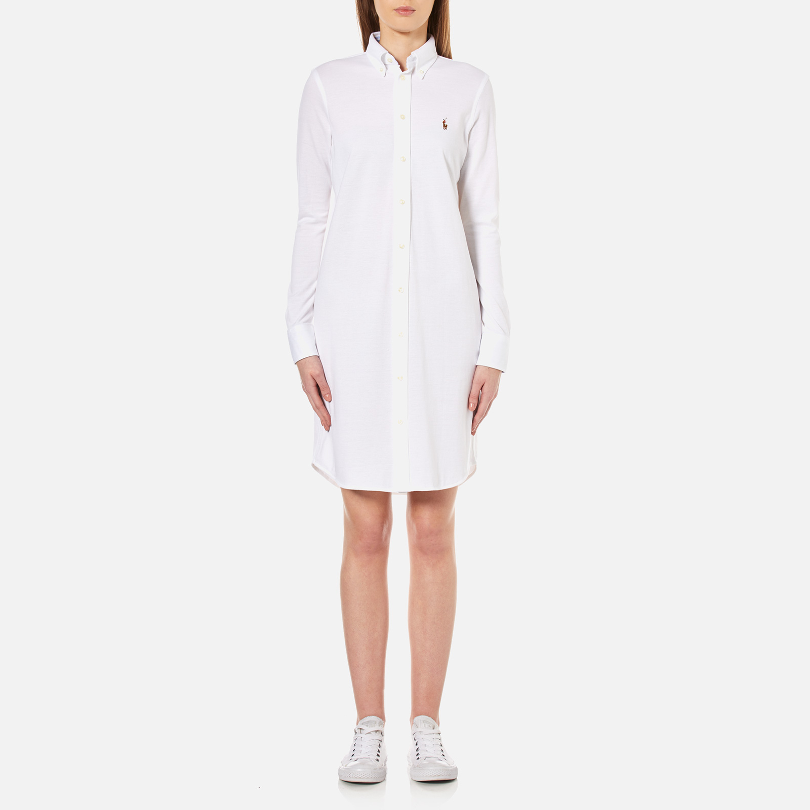 9ddb0f3095f Polo Ralph Lauren Women s Oxford Shirt Dress - White - Free UK Delivery  over £50
