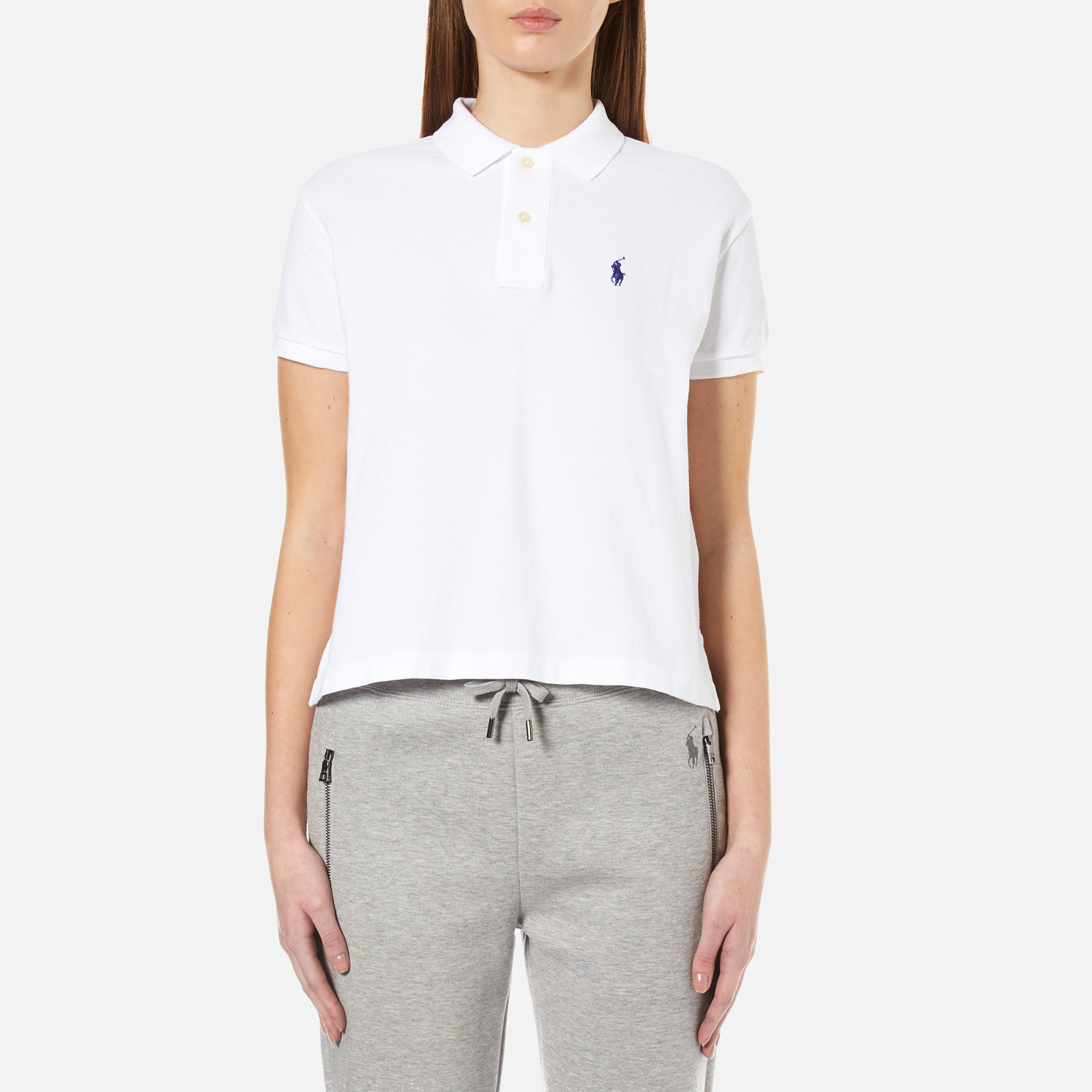 aef8a1370e2b8e Polo Ralph Lauren Women s Short Sleeve Crop Polo Shirt - White - Free UK  Delivery over £50