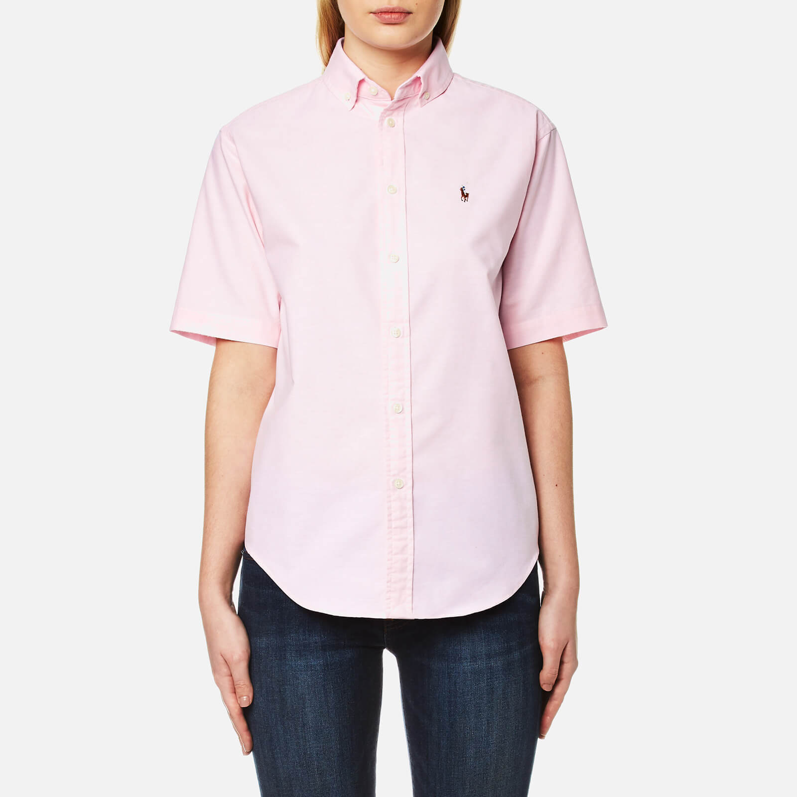 3a48685e3 Polo Ralph Lauren Women's Short Sleeve Shirt - Deco Pink - Free UK Delivery  over £50