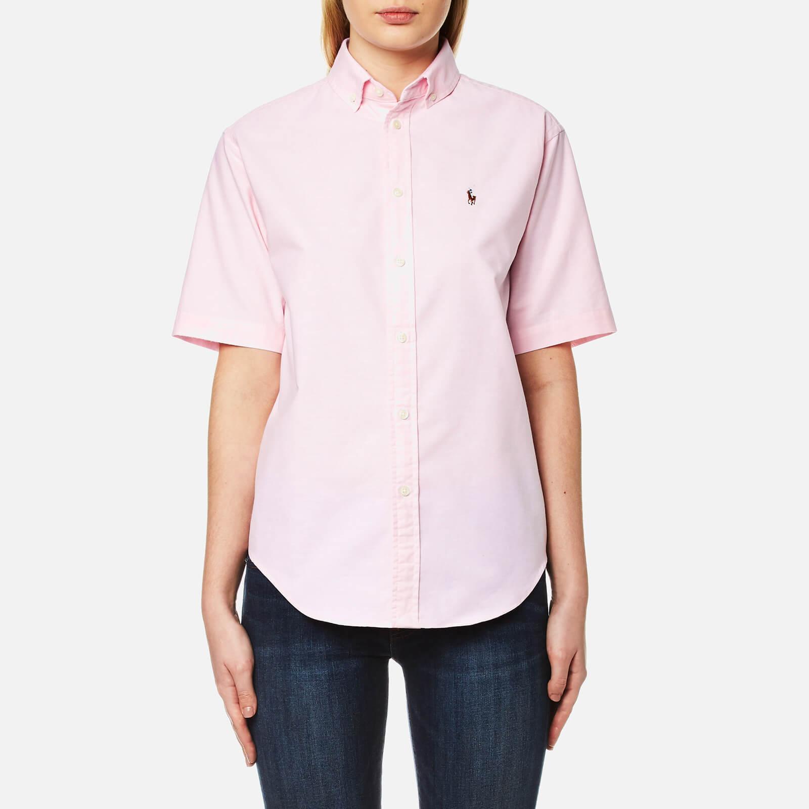 Shirt Polo Deco Pink Lauren Women's Ralph Short Sleeve eED9IWH2Yb