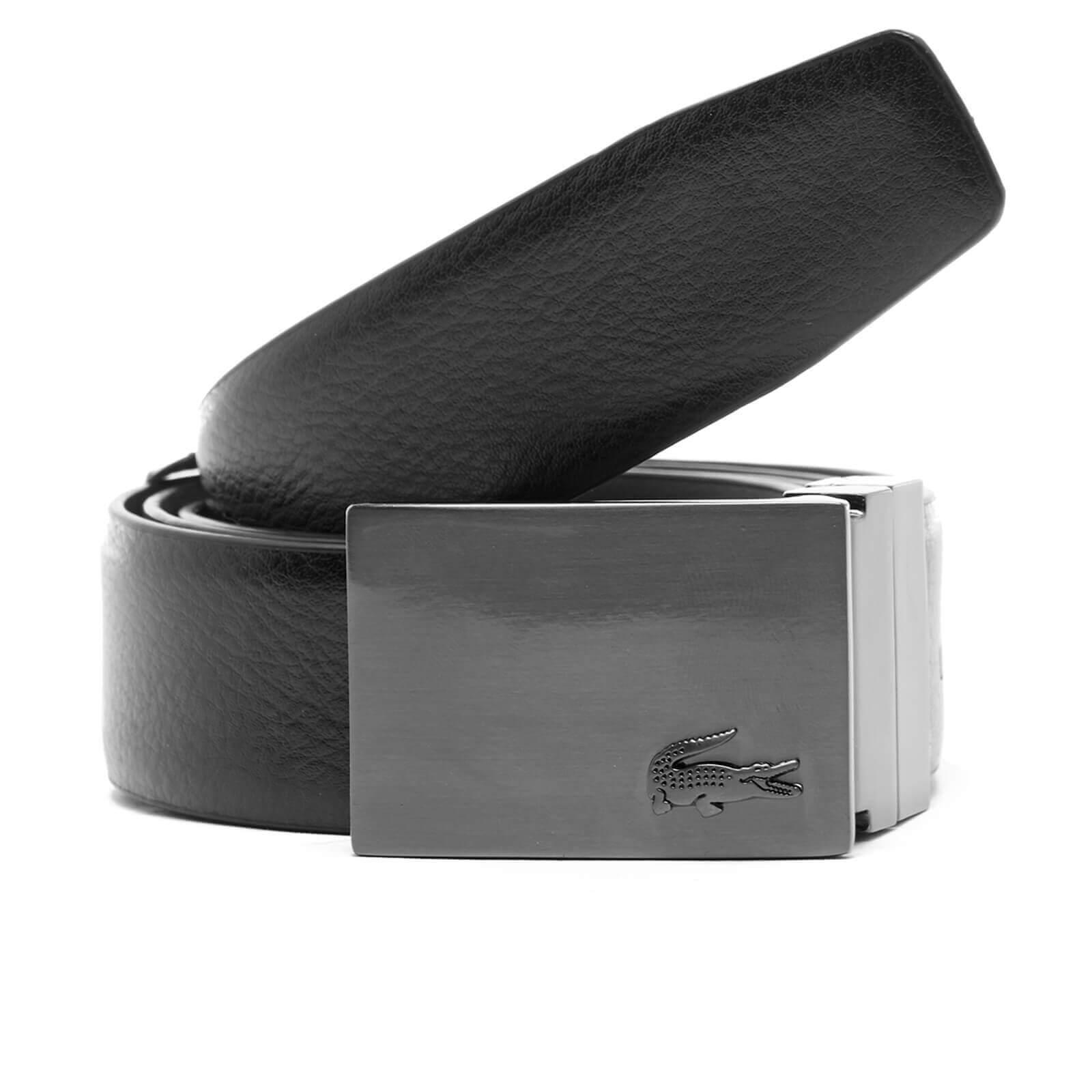 383c9a92cd Lacoste Men's Reversible Branded Buckle Belt - Brown/Black - Free UK  Delivery over £50