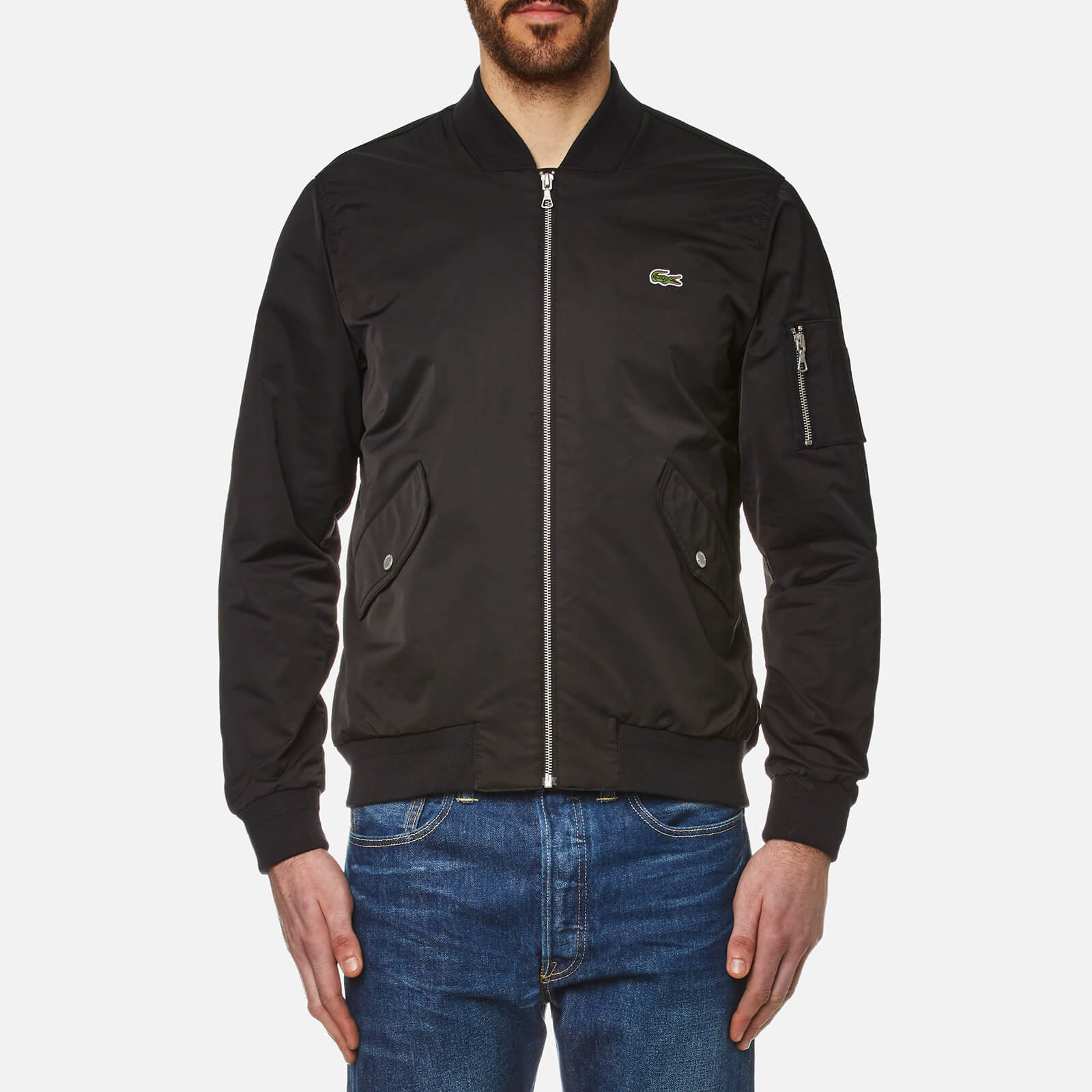 319148dc Lacoste Men's Ma-1 Bomber Jacket - Black