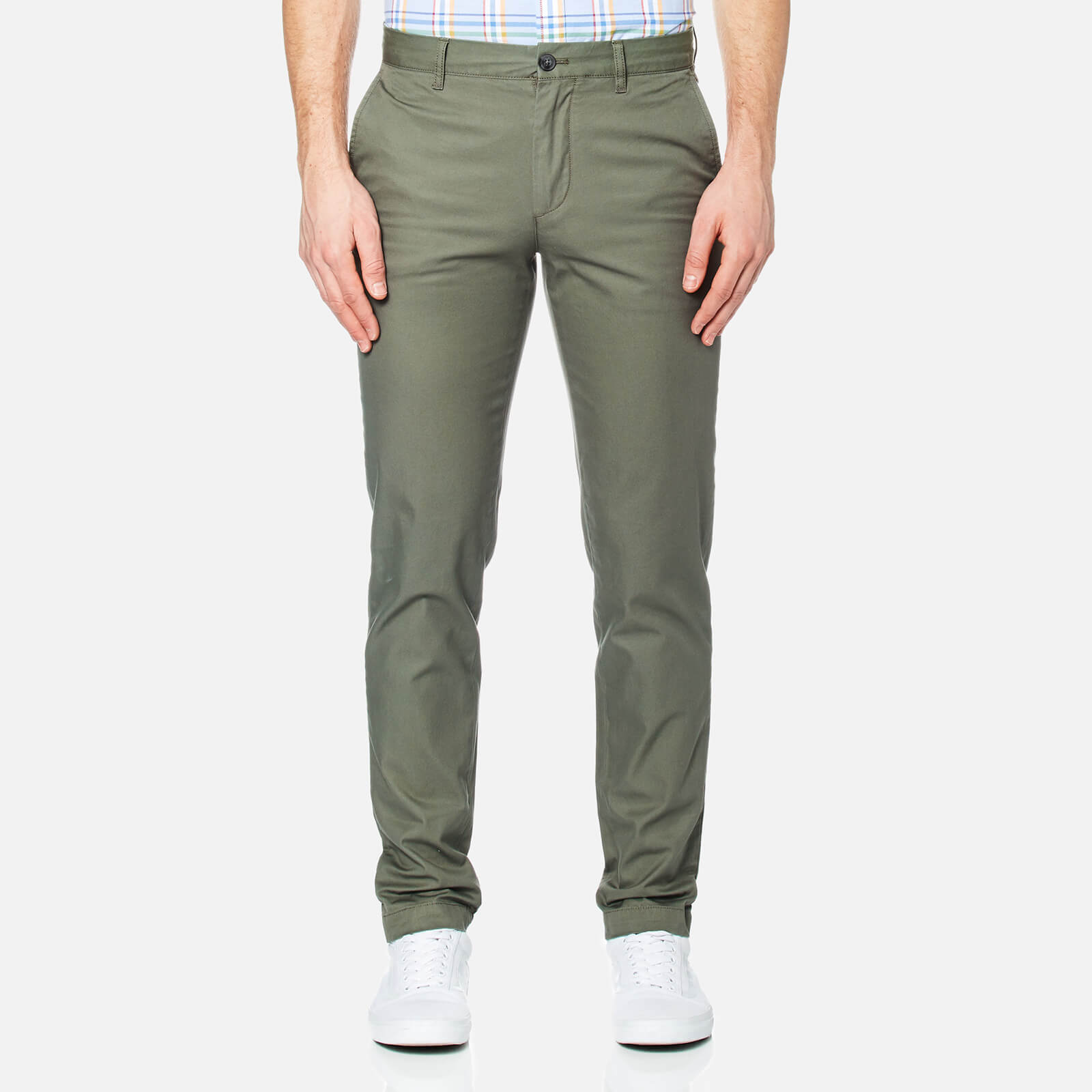 845f2c97 Lacoste Men's Slim Fit Chinos - Army - Free UK Delivery over £50