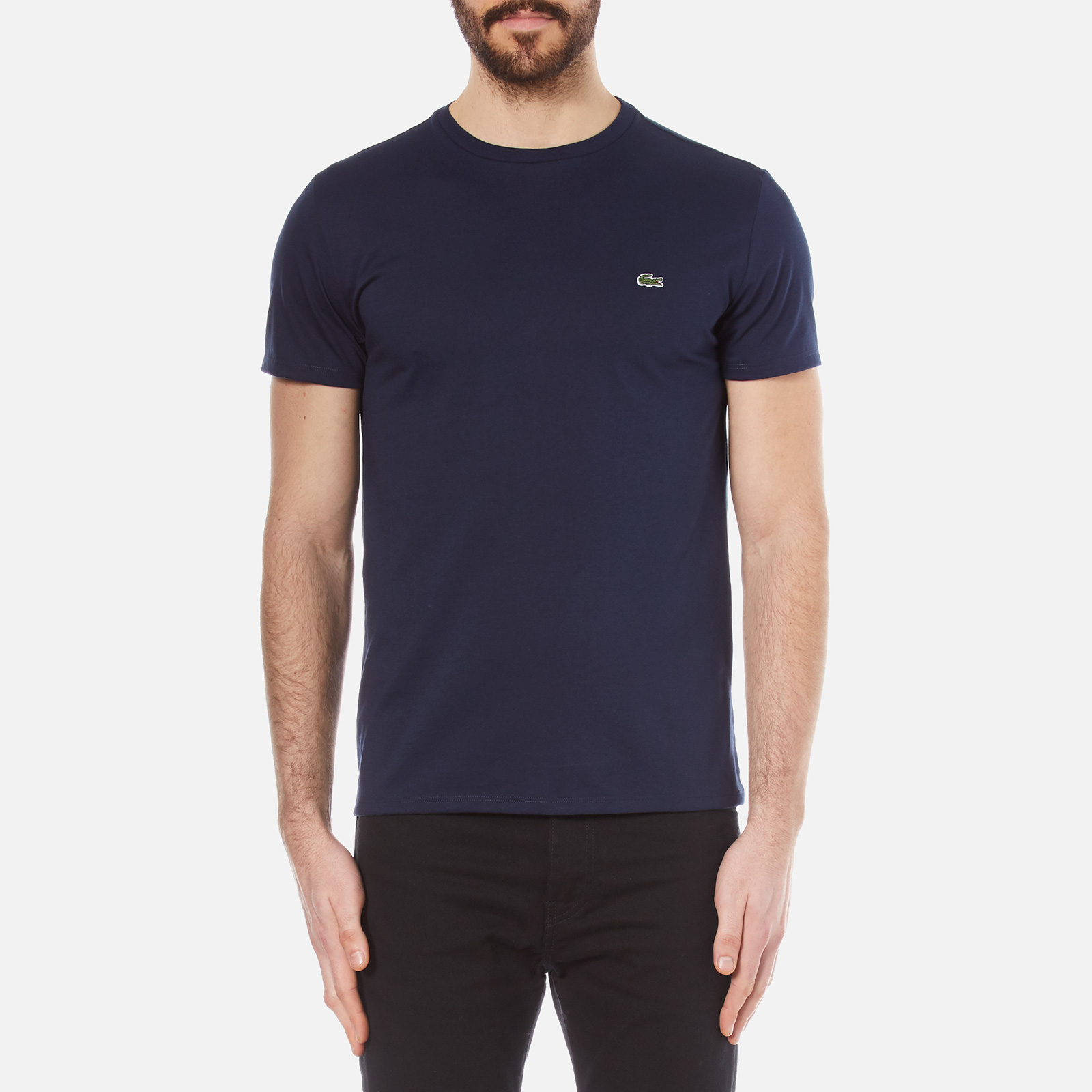 eb7f890037874 Lacoste Men s Classic Pima T-Shirt - Navy - Free UK Delivery over £50