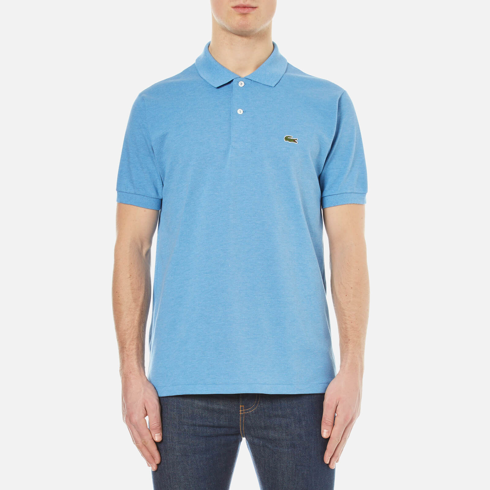30a8ad90a Lacoste Men's Short Sleeve Pique Polo Shirt - Horizon Blue Chine - Free UK  Delivery over £50