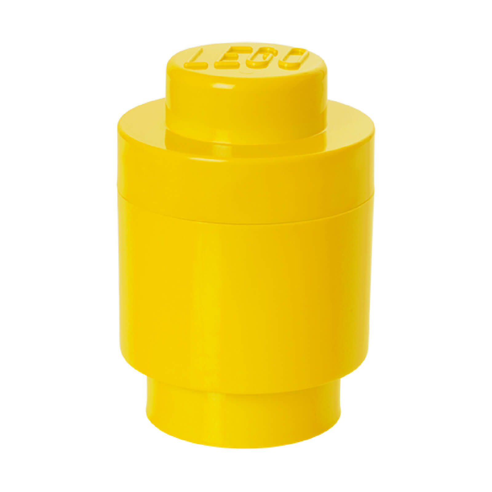 LEGO Storage Brick 1 - Bright Yellow (Round)