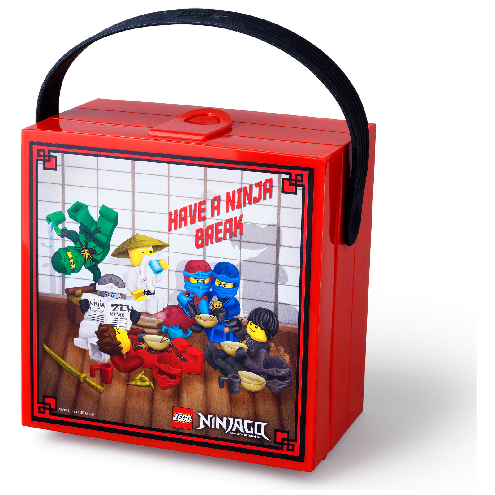 LEGO Lunch Box with Handle - LEGO Ninjago
