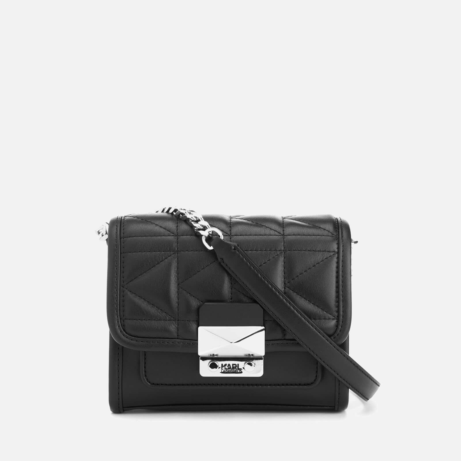 2566377989 Karl Lagerfeld Women s K Kuilted Mini Cross Body Bag - Black - Free UK  Delivery over £50