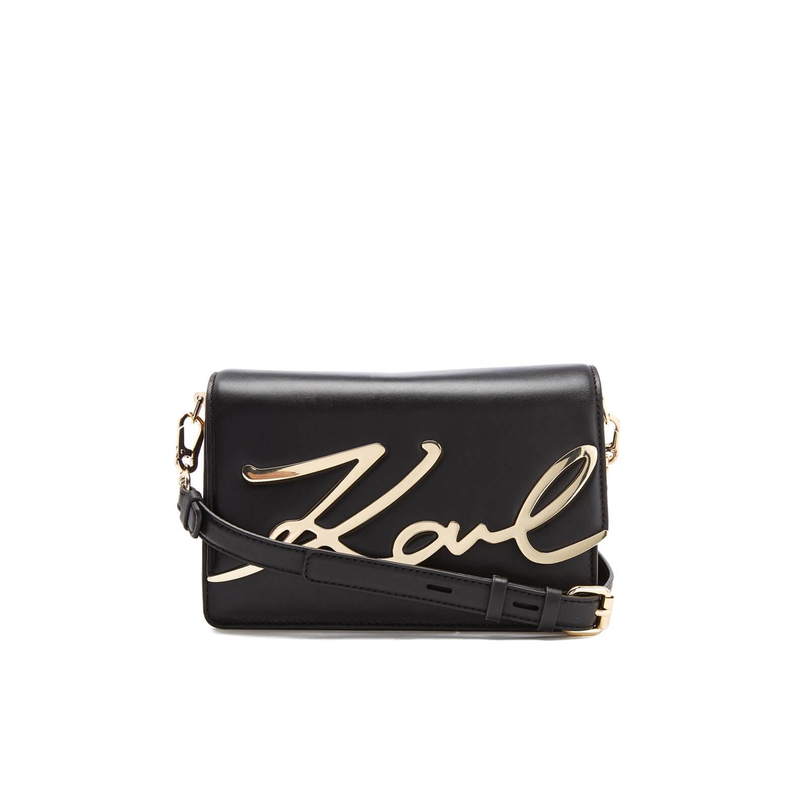 8316792662 Karl Lagerfeld Women s K Metal Signature Shoulder Bag - Black - Free UK  Delivery over £50