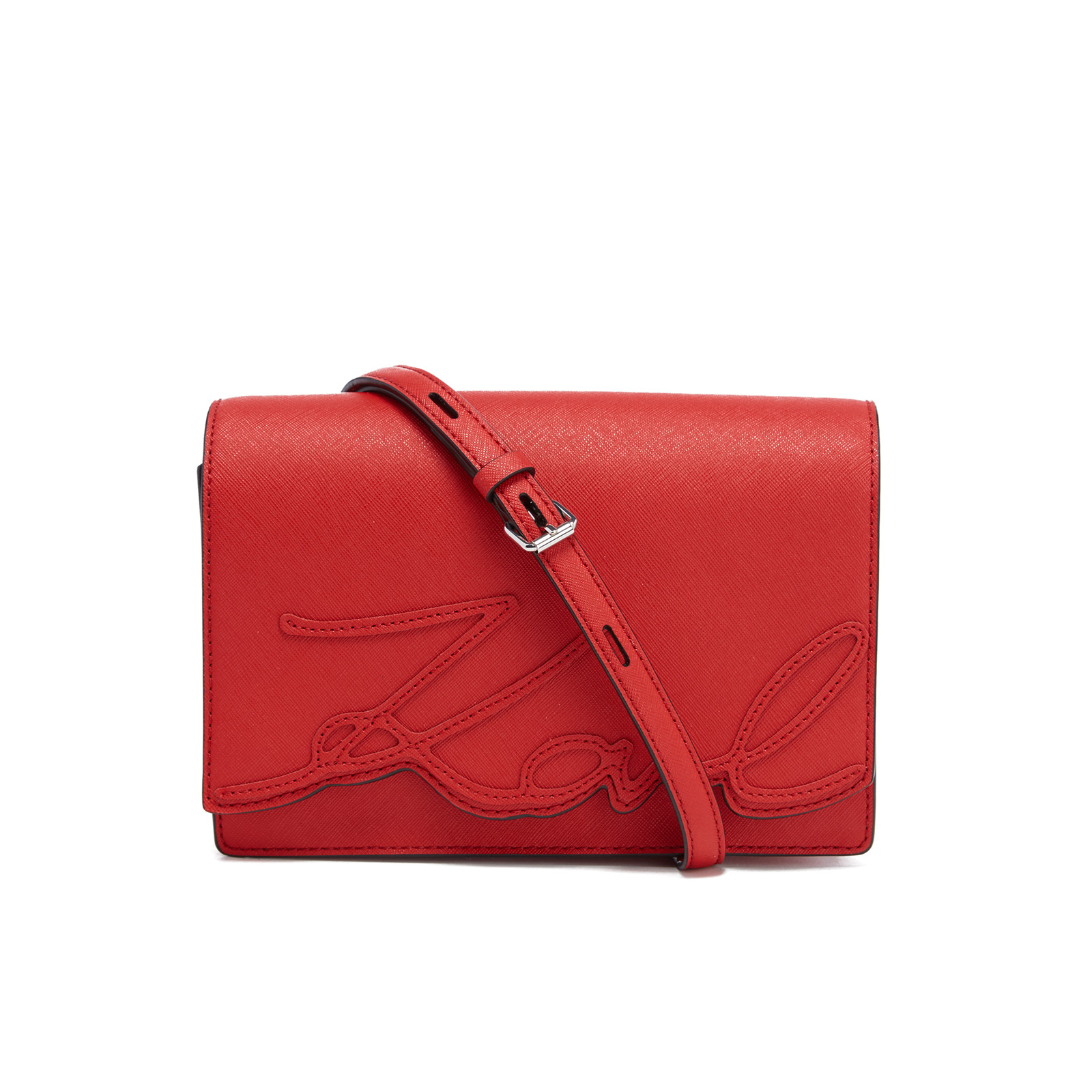 e2f2dd1bc0f4 Karl Lagerfeld Women s K Signature Shoulder Bag - Scarlet - Free UK  Delivery over £50