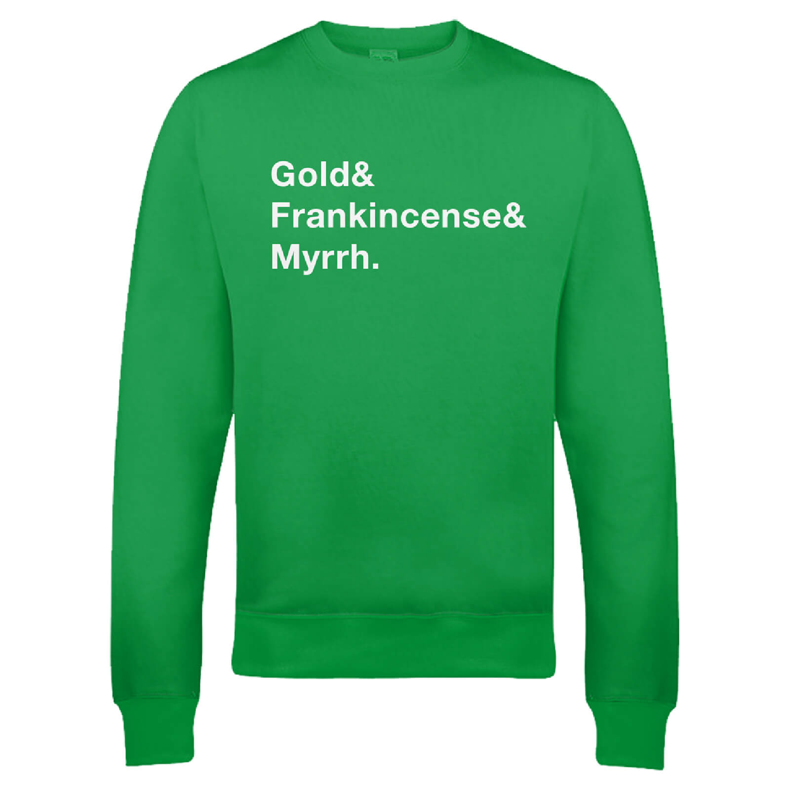 Gold Frank & Myrr Christmas Sweatshirt - Green