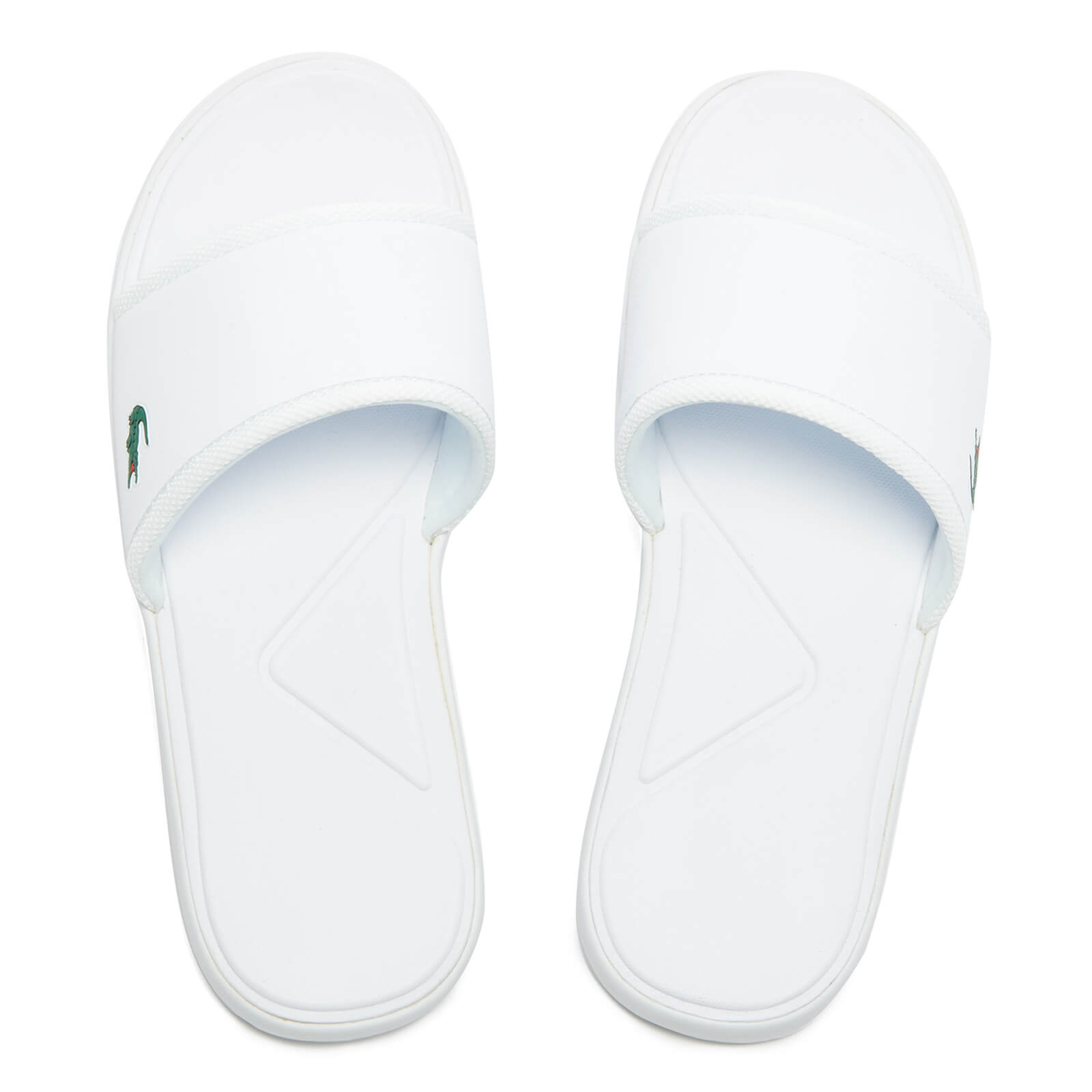 795a271fd3d9 Lacoste Men s L.30 Slide Sport Slide Sandals - White - Free UK Delivery  over £50