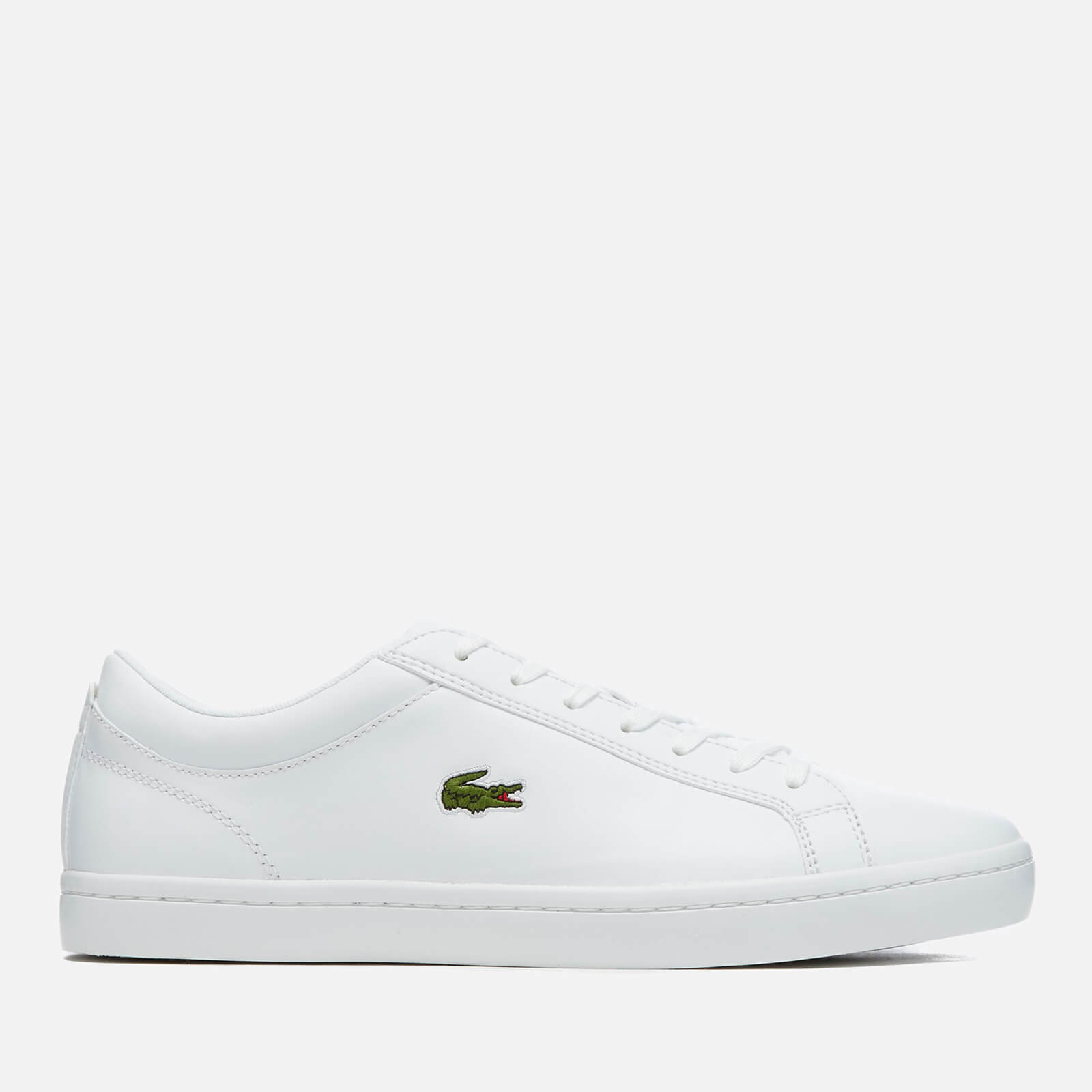 e4f6bc4e3 Lacoste Men s Straightset Bl 1 Leather Trainers - White Mens Footwear