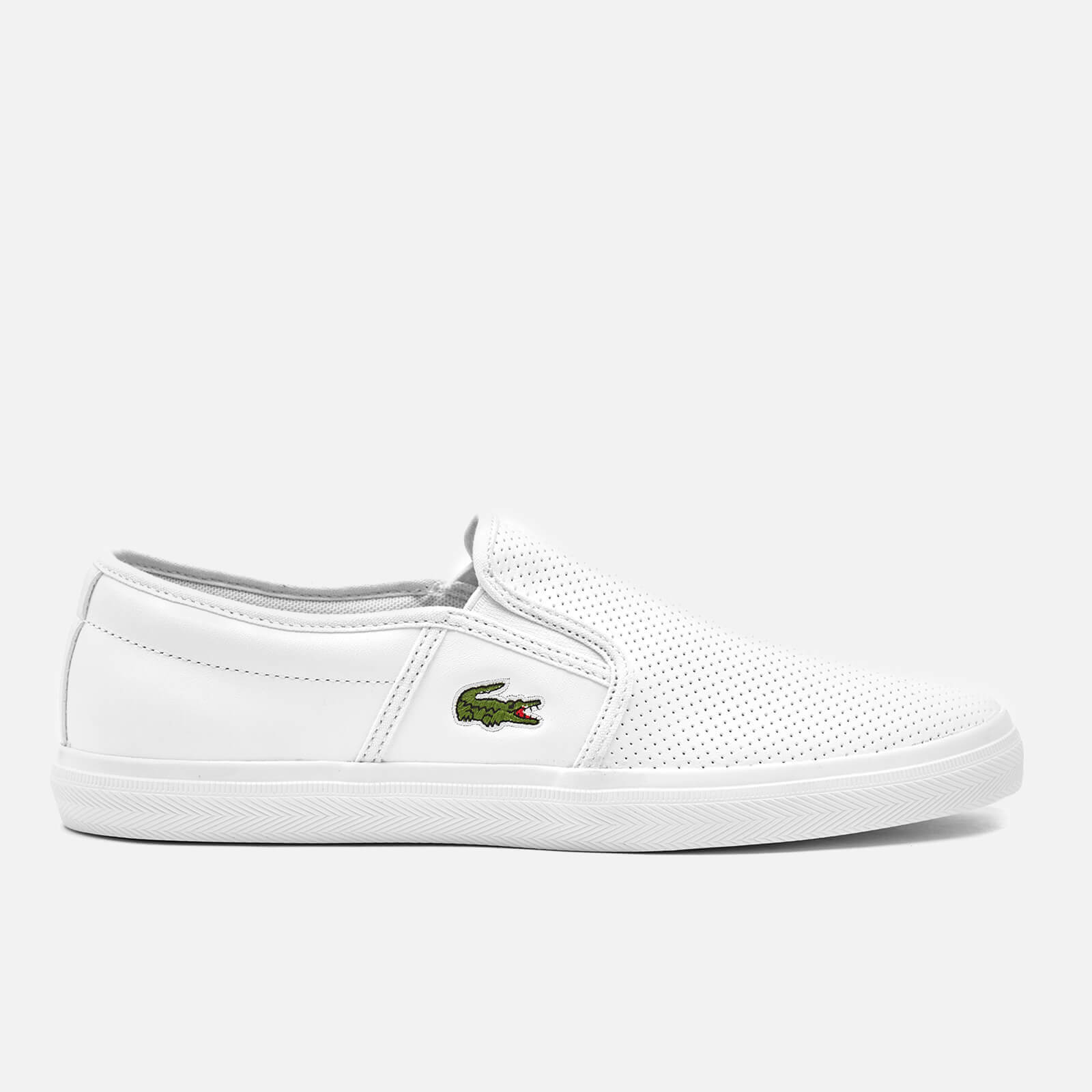 7679633fa Lacoste Men s Gazon Bl 1 Leather Slip-On Trainers - White Mens Footwear