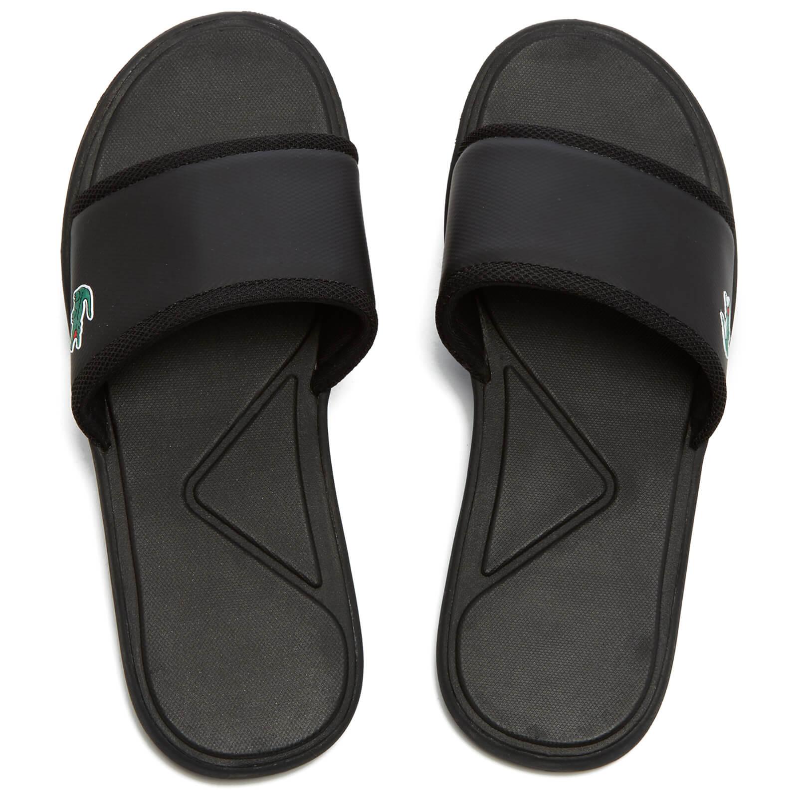 c9eed157f615 Lacoste Men s L.30 Slide Sport Slide Sandals - Black - Free UK Delivery  over £50