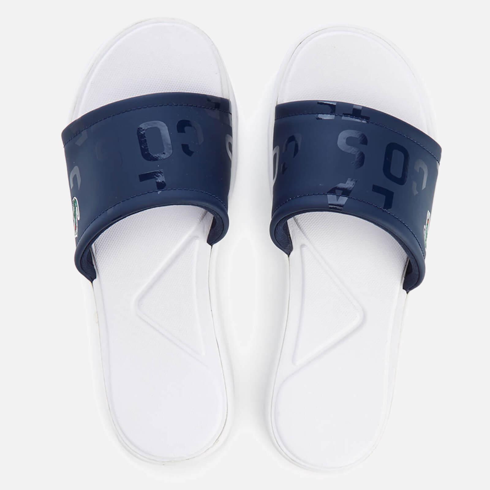 e90d60d20ca3e Lacoste Women s L.30 Slide 117 1 Slide Sandals - Navy - Free UK Delivery  over £50
