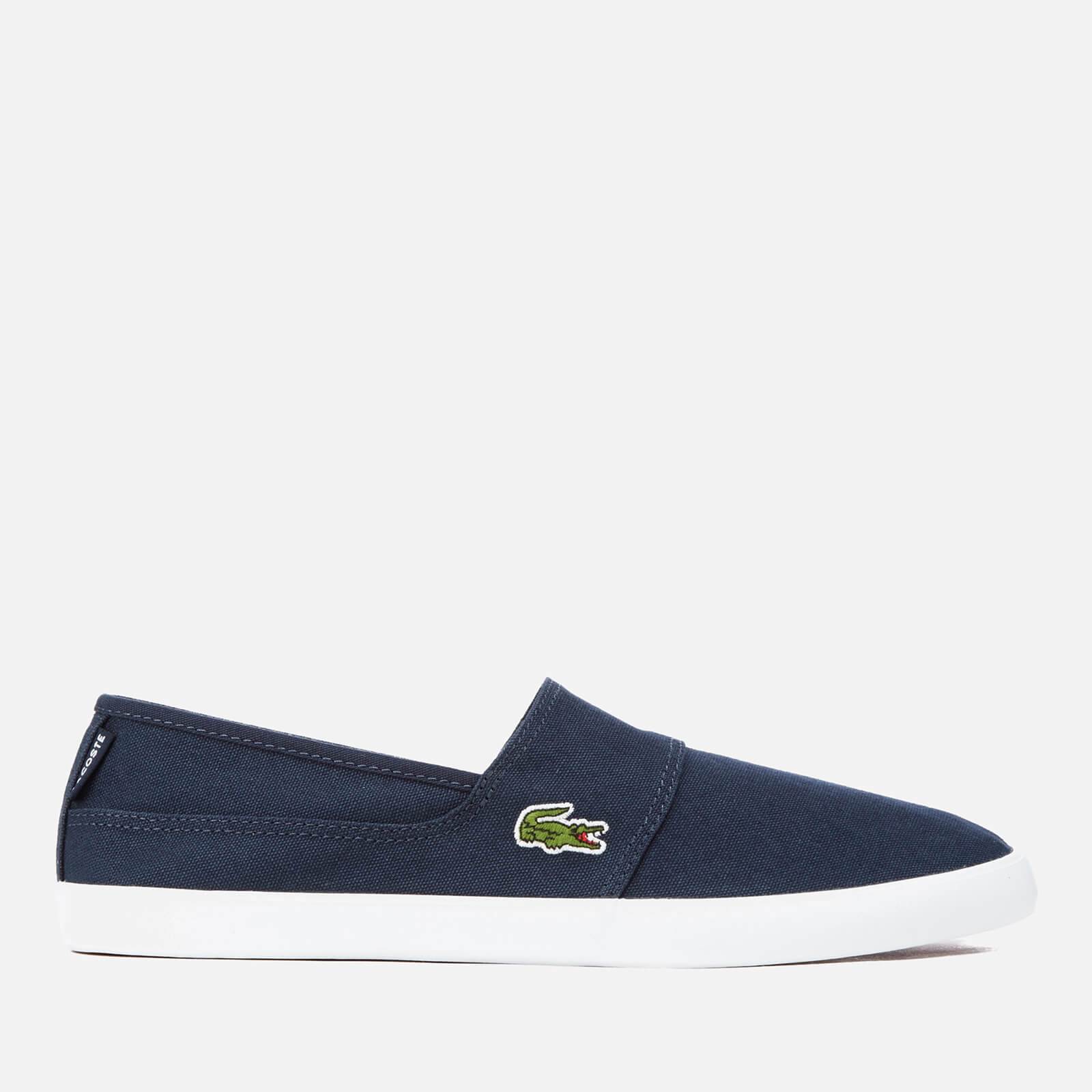 6156aae7be6c25 Lacoste Men's Marice Bl 2 Canvas Slip-On Pumps - Dark Blue/Dark Blue | FREE  UK Delivery | Allsole